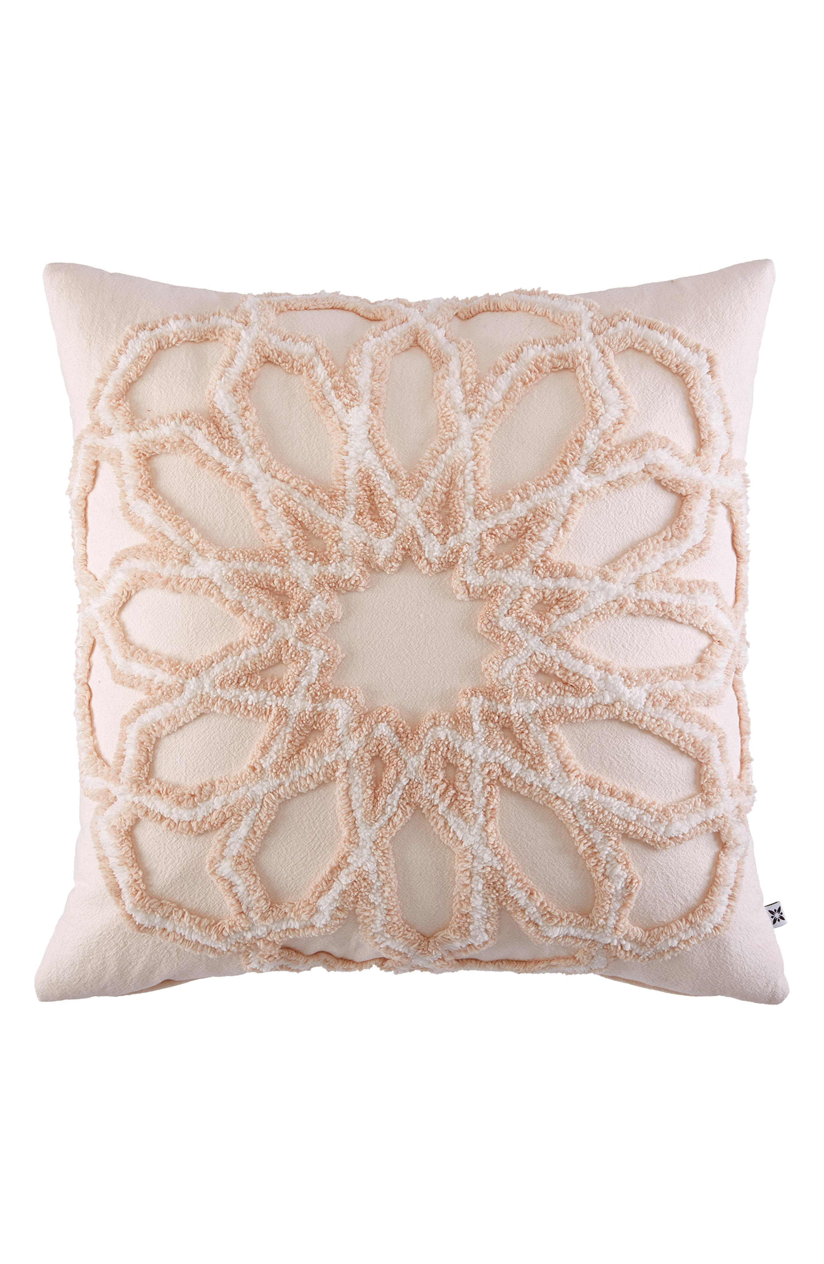 Marrakesh Tufted Accent Pillow,                             Main thumbnail 1, color,                             Pink