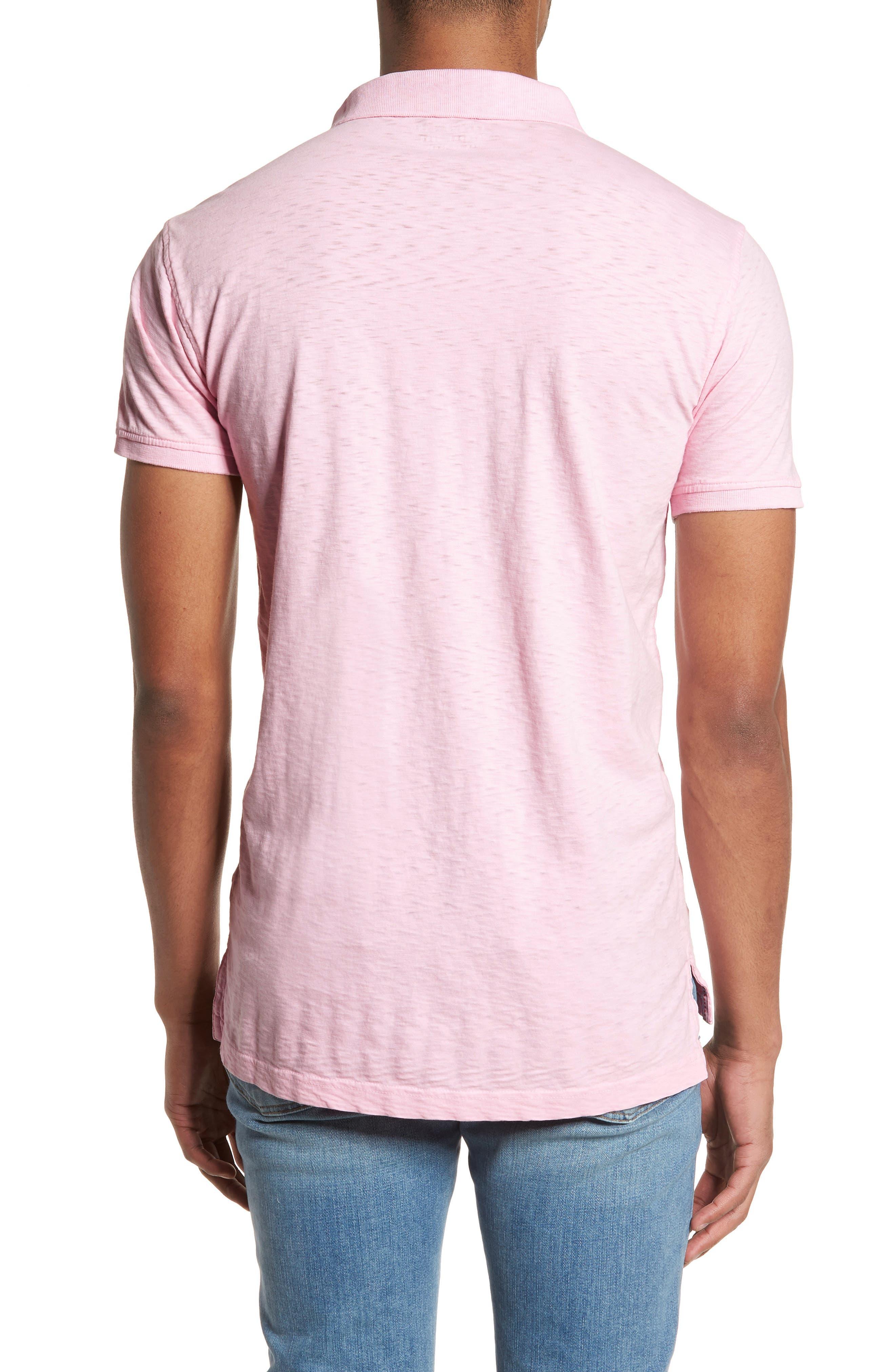 Slub Polo,                             Alternate thumbnail 2, color,                             Pink