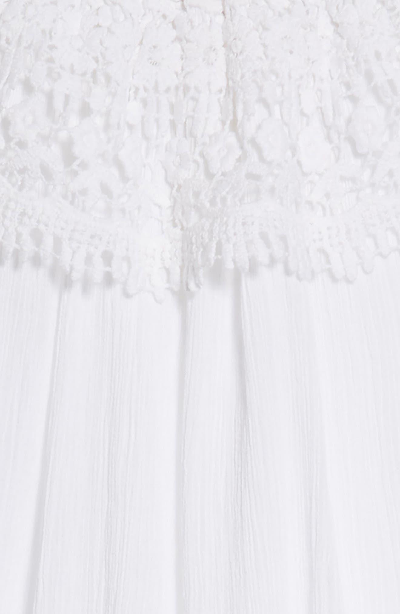 Lace Swing Dress,                             Alternate thumbnail 3, color,                             White