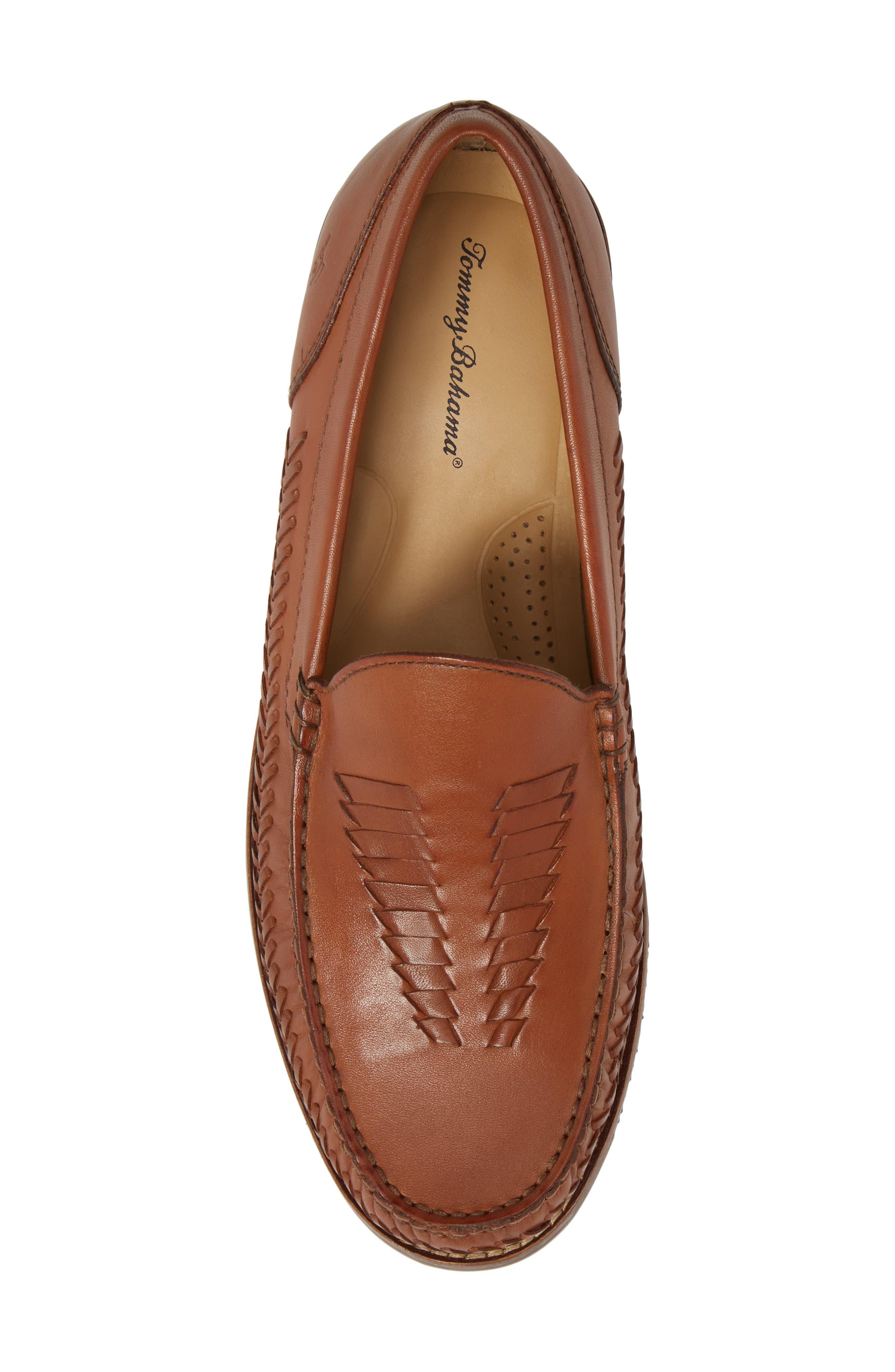 Hasslington Woven Venetian Loafer,                             Alternate thumbnail 5, color,                             Tan Leather