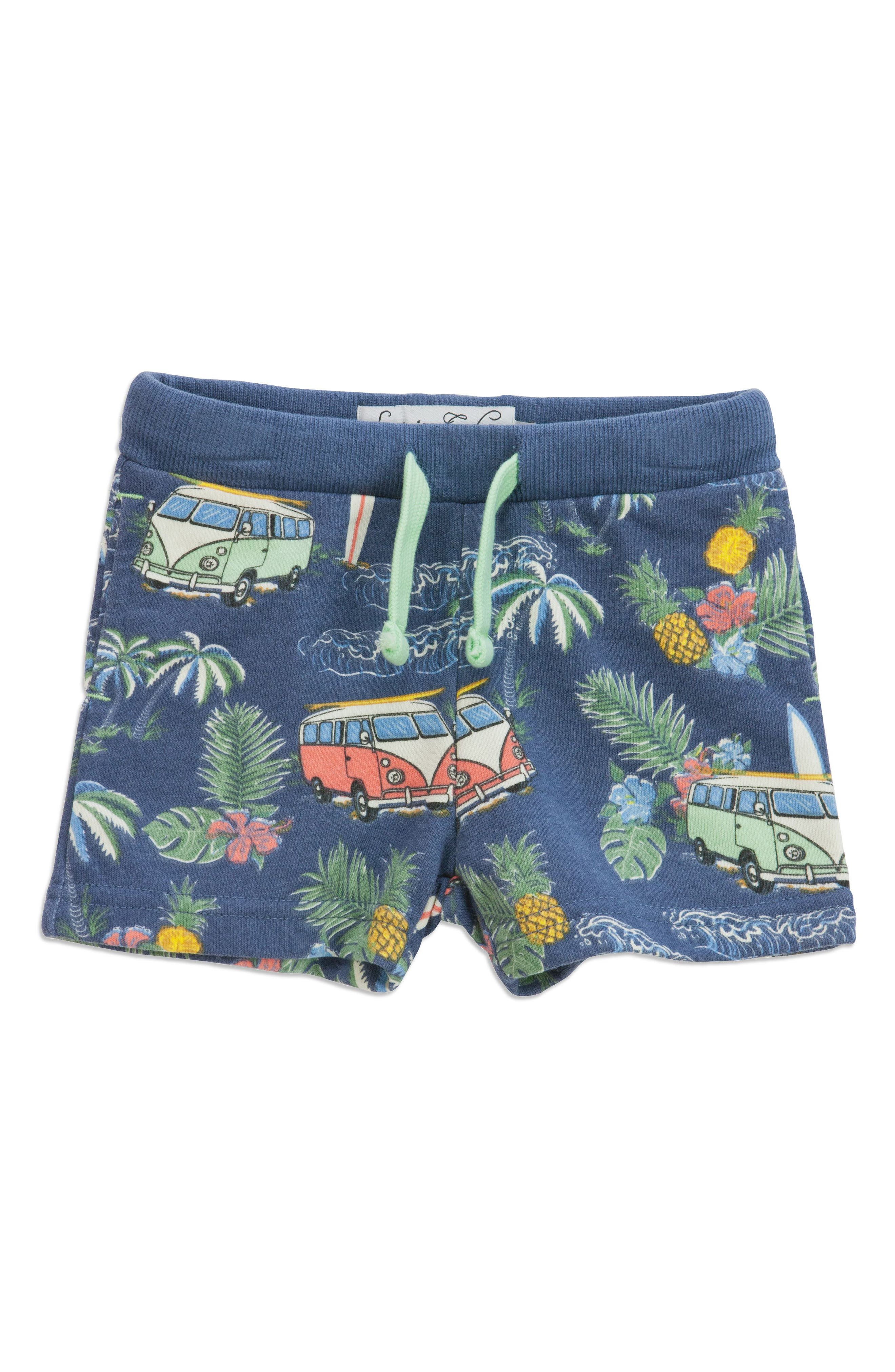 Summer Vacay Adriel Knit Shorts,                         Main,                         color, Blue