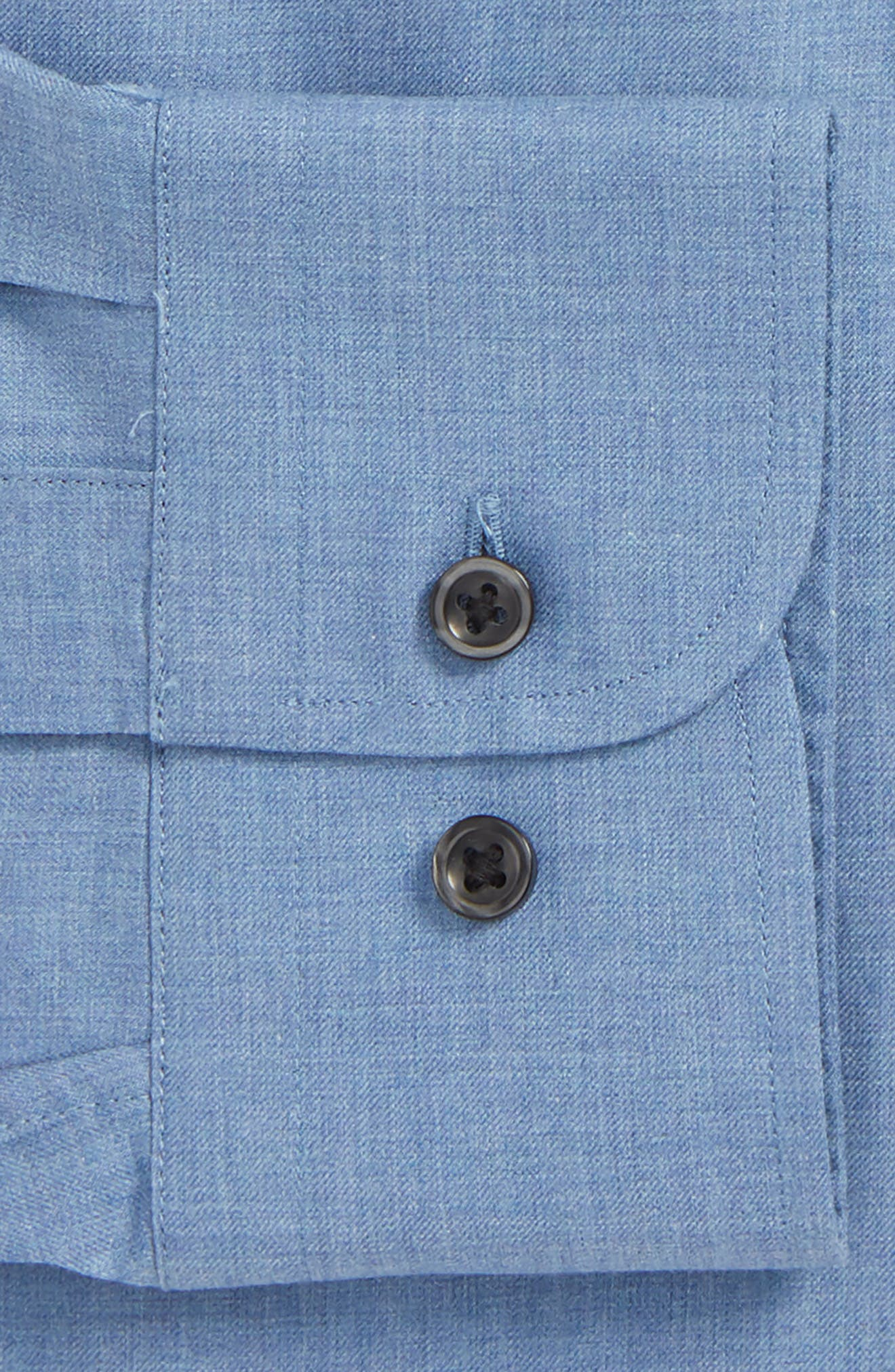 Traditional Fit Solid Dress Shirt,                             Alternate thumbnail 2, color,                             Blue Country