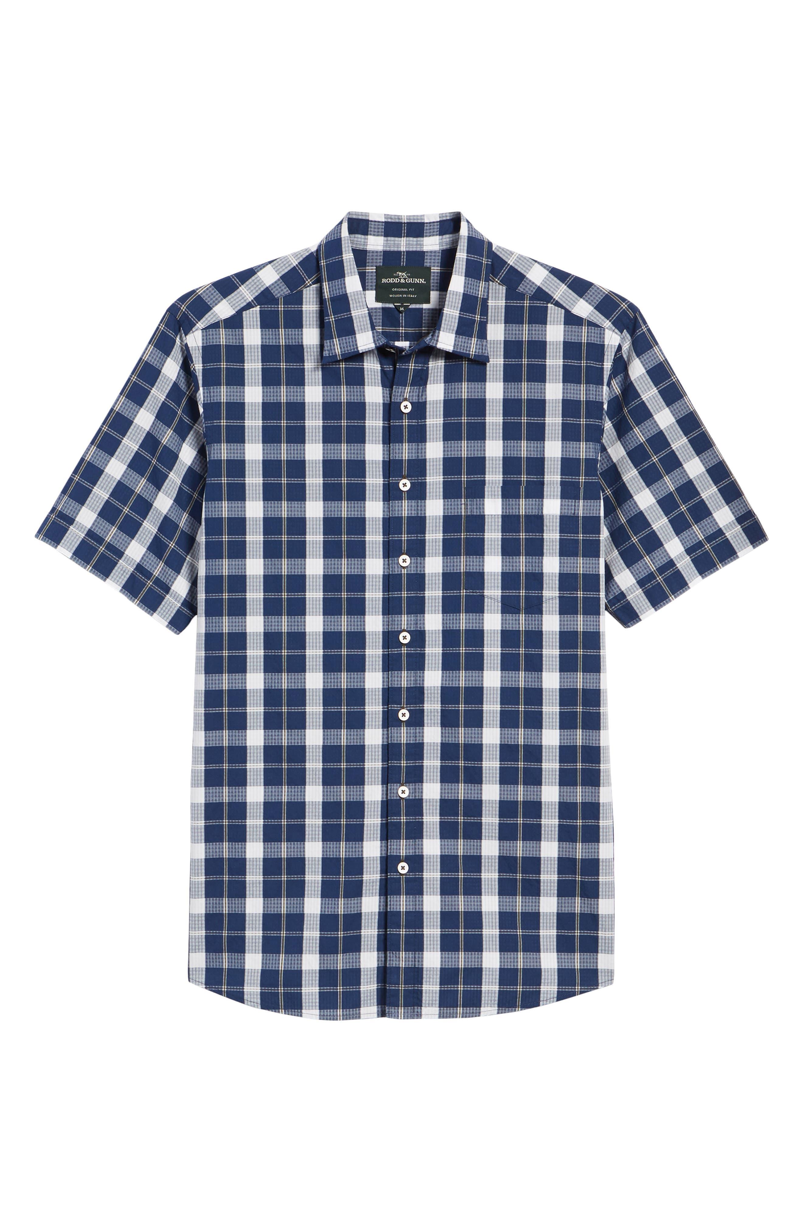 Bradford Regular Fit Sport Shirt,                             Alternate thumbnail 6, color,                             Navy