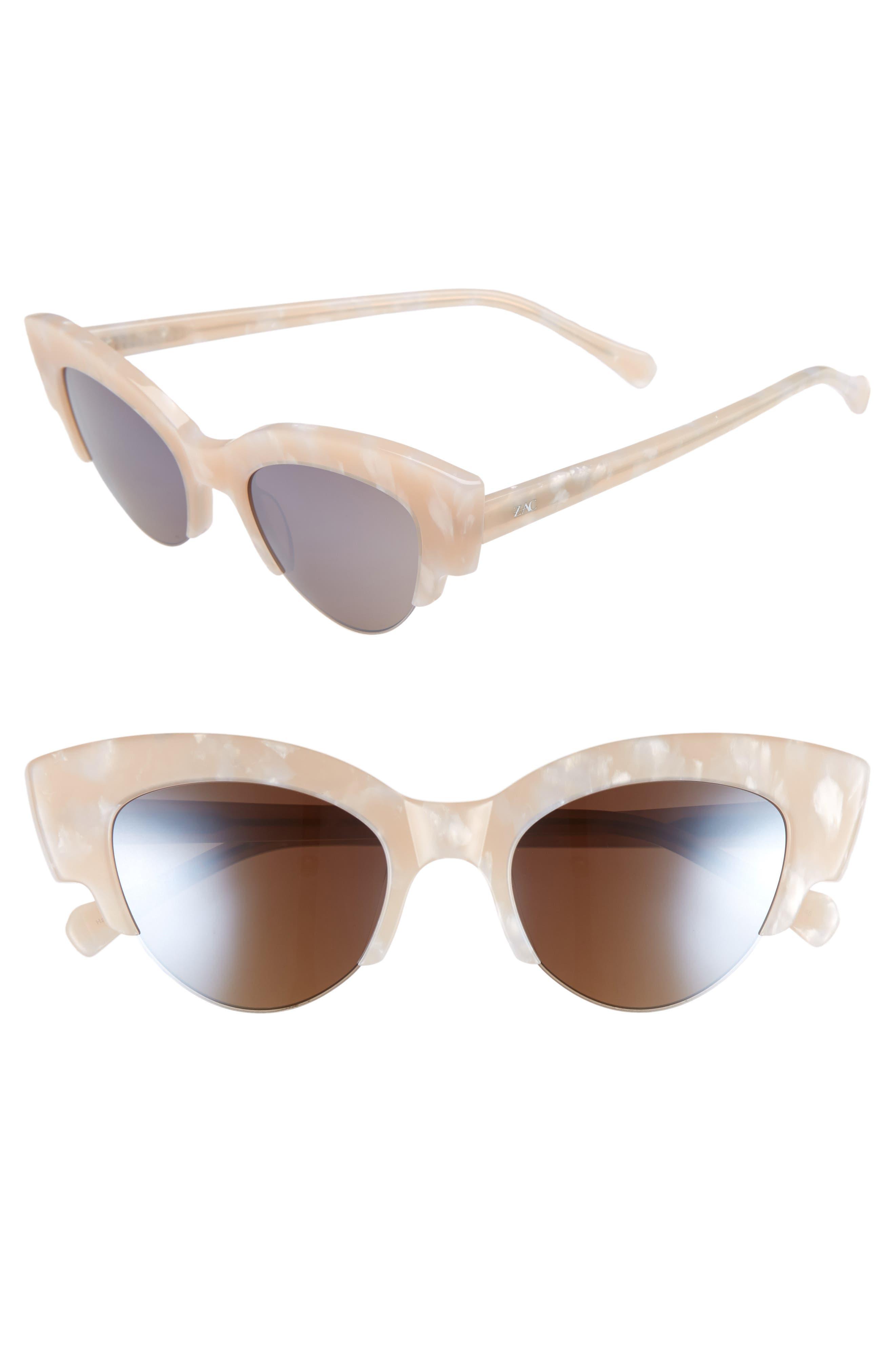 Winona Cat Eye Sunglasses,                             Main thumbnail 1, color,                             Marble/ Cream