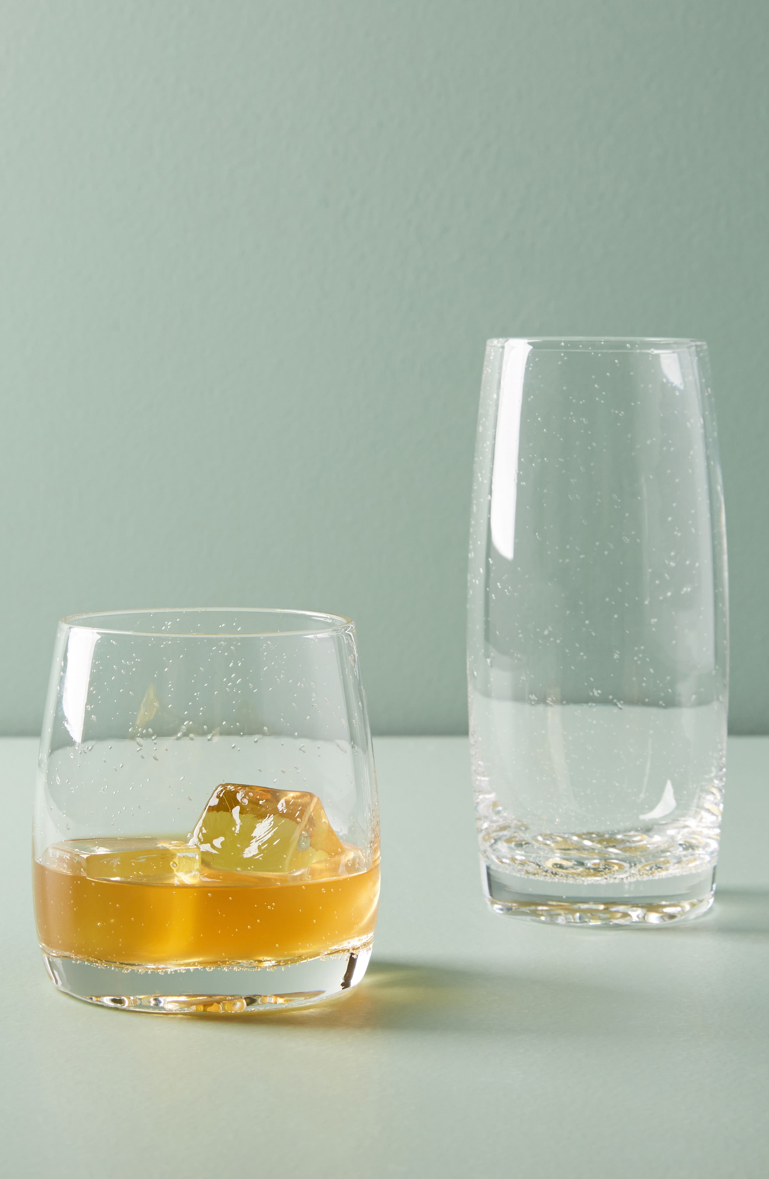 Bella Double Old-Fashioned Glass,                             Alternate thumbnail 5, color,                             Gold