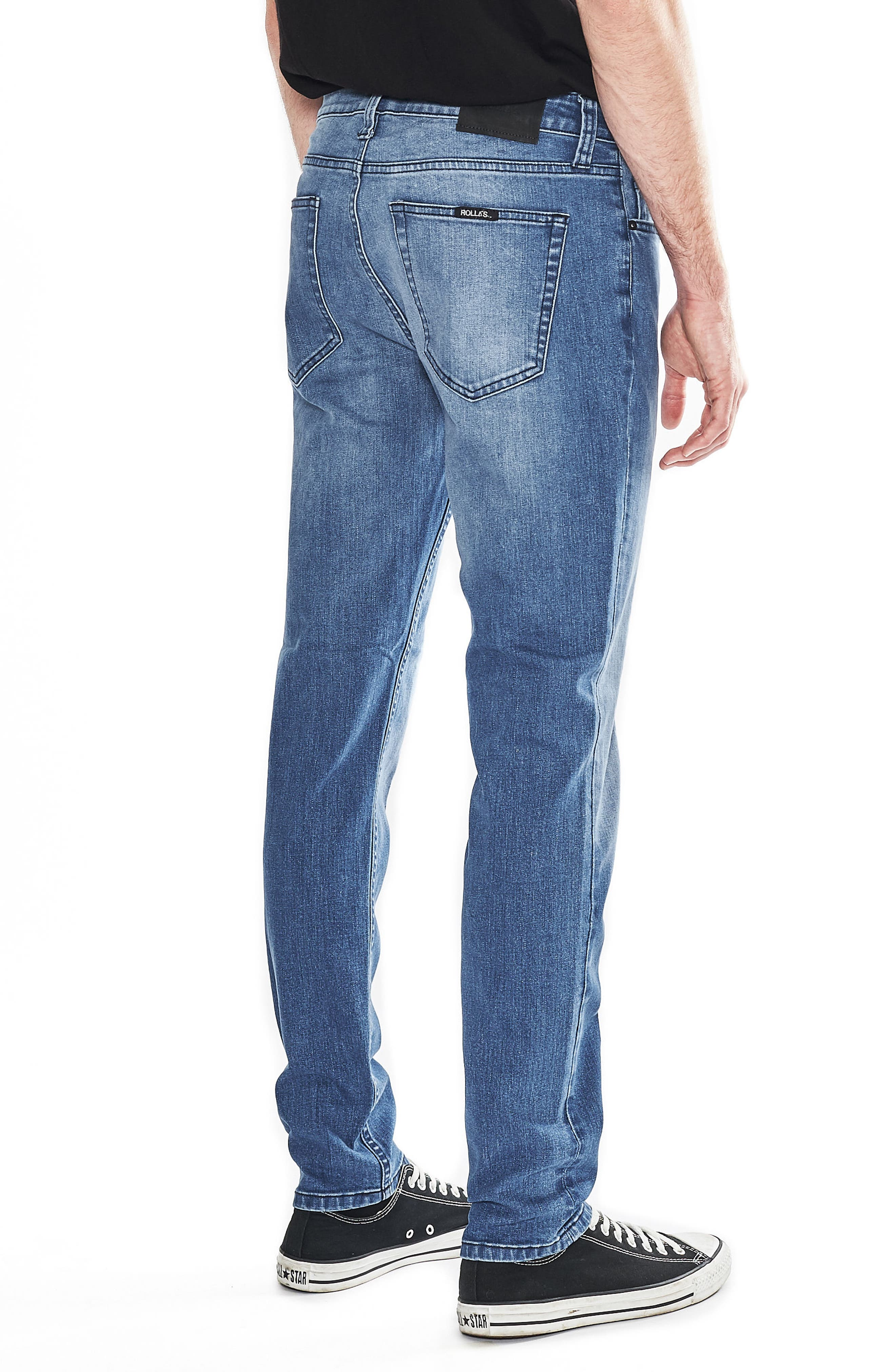 Tim Slims Slim Fit Jeans,                             Alternate thumbnail 3, color,                             Safety Beach Blue