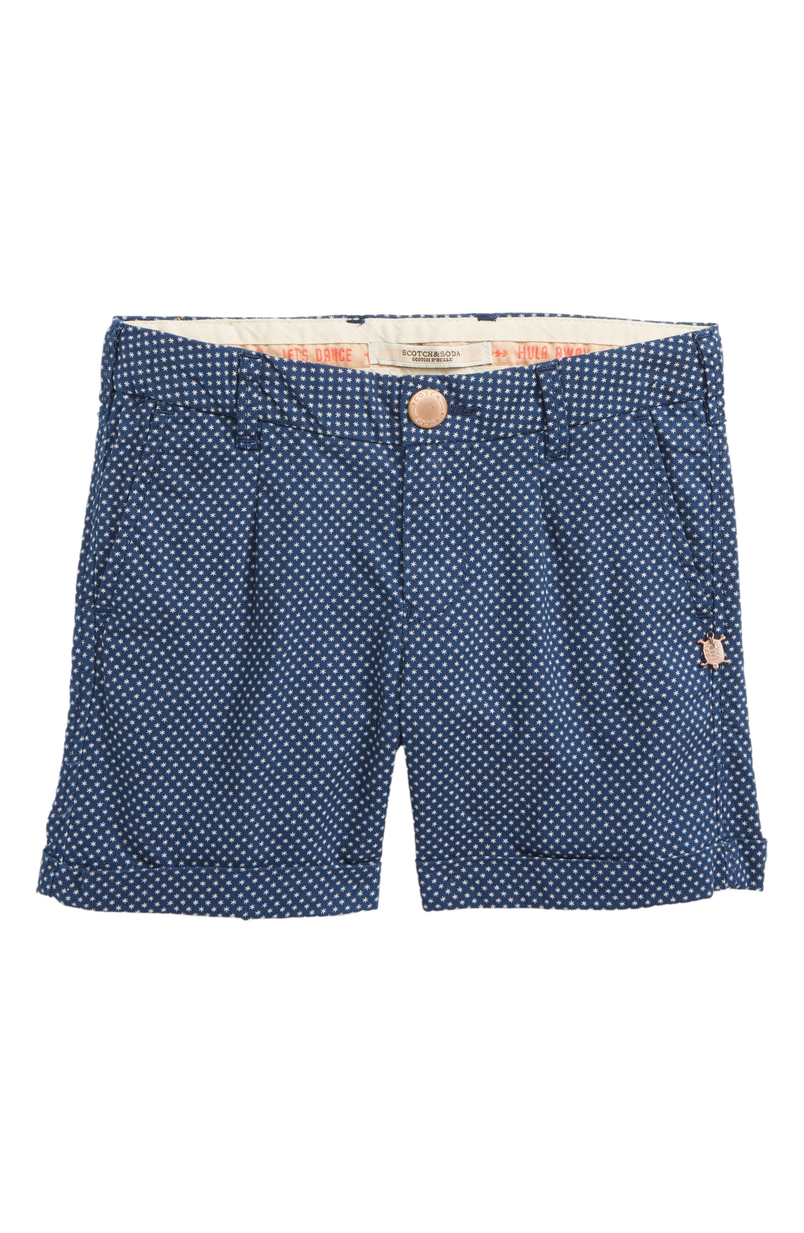 Scotch R'Belle Star Cotton Shorts,                         Main,                         color, 217 A Print