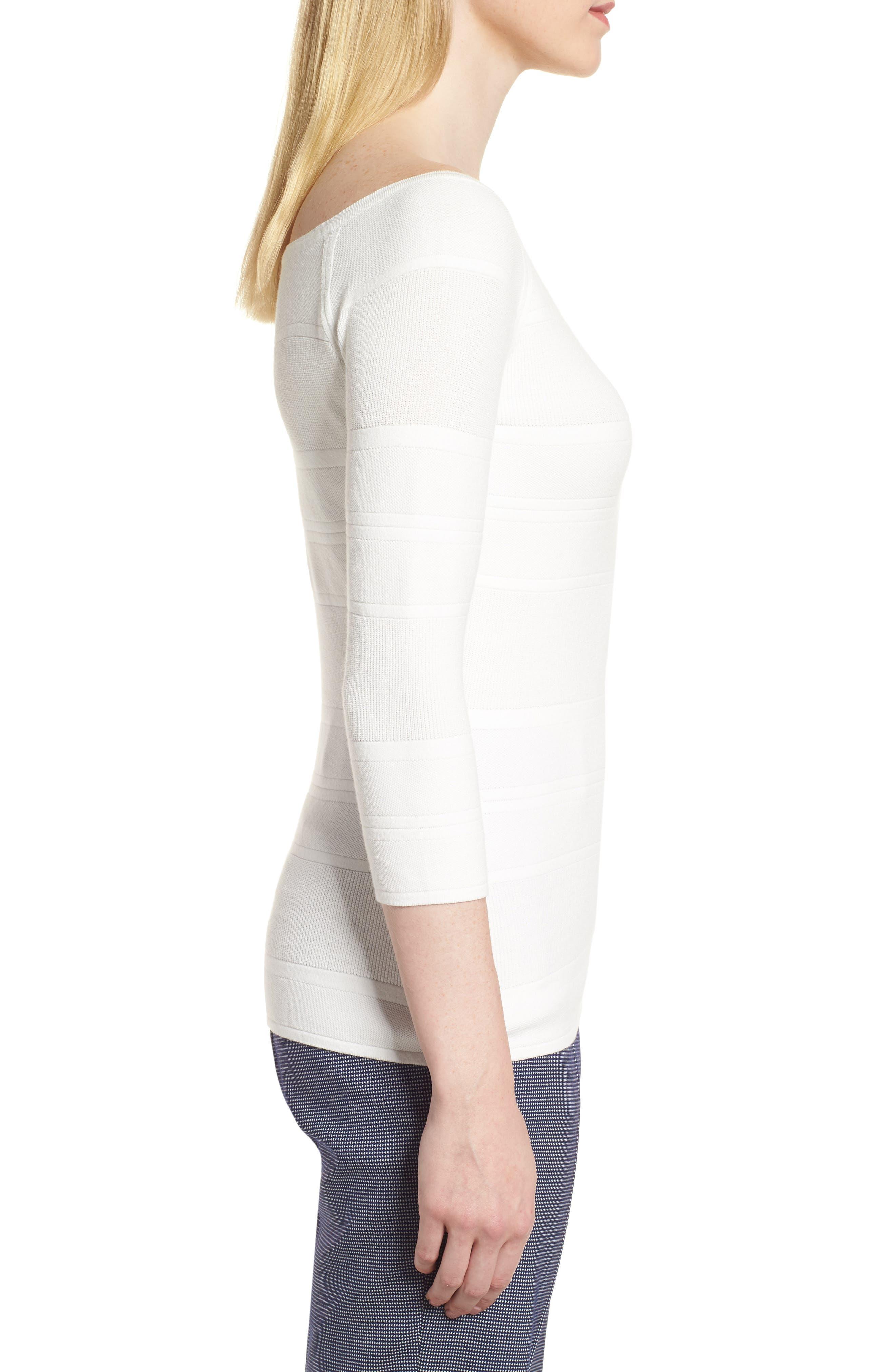 Finami Sweater,                             Alternate thumbnail 3, color,                             White