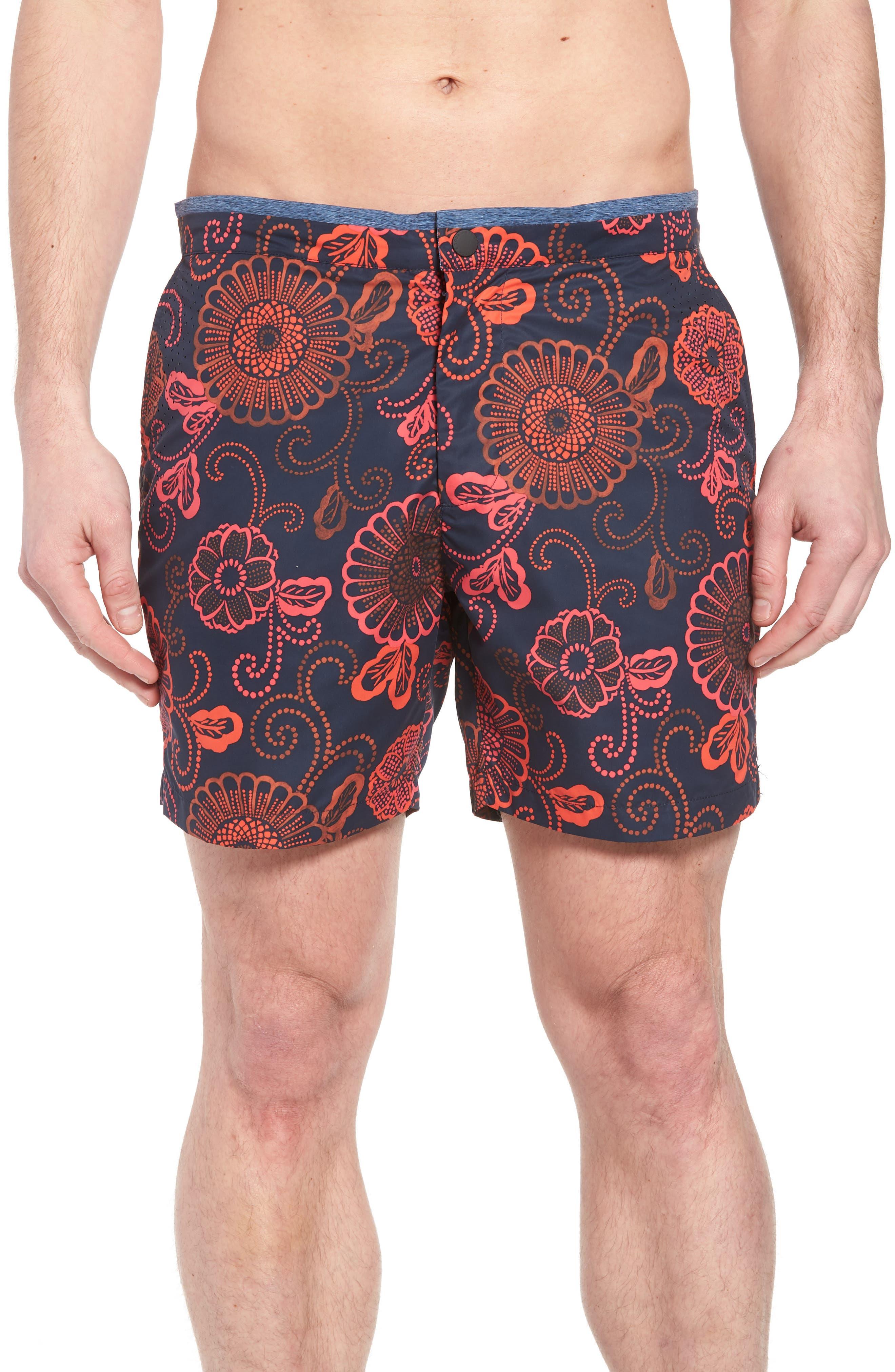 Print Mélange Board Shorts,                         Main,                         color, Combo D