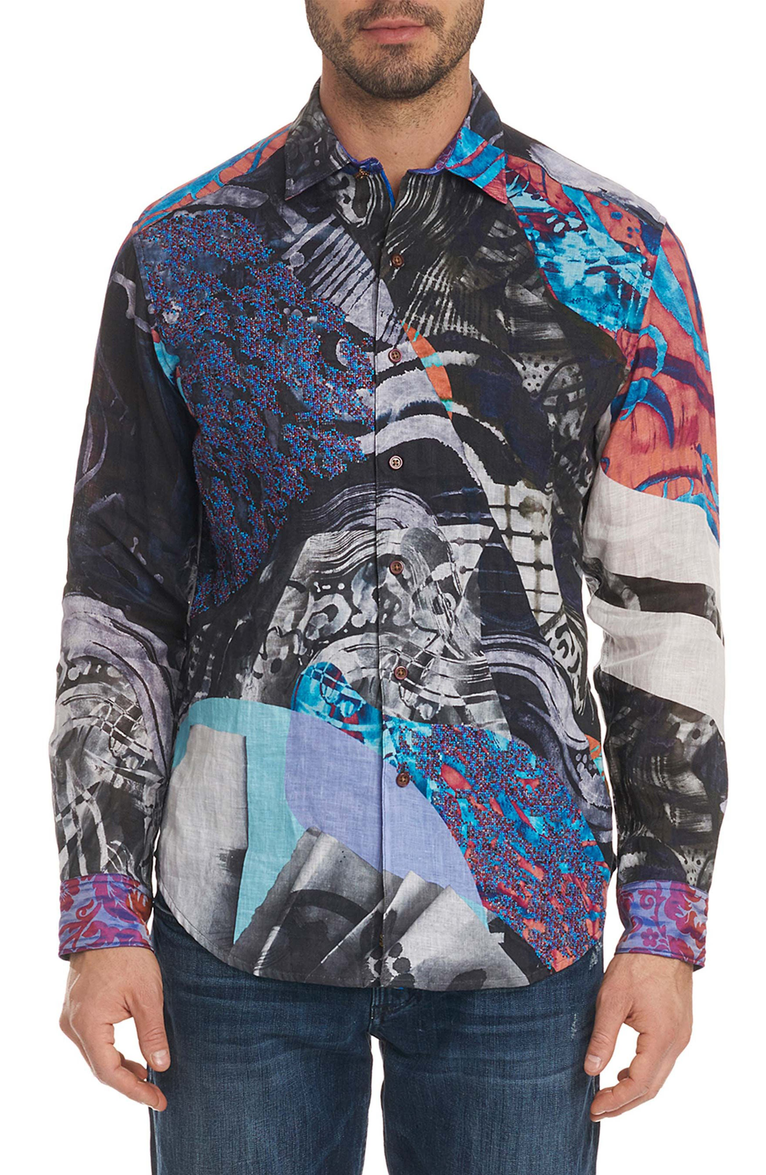 Hooked on You Limited Edition Sport Shirt,                             Main thumbnail 1, color,                             Multi