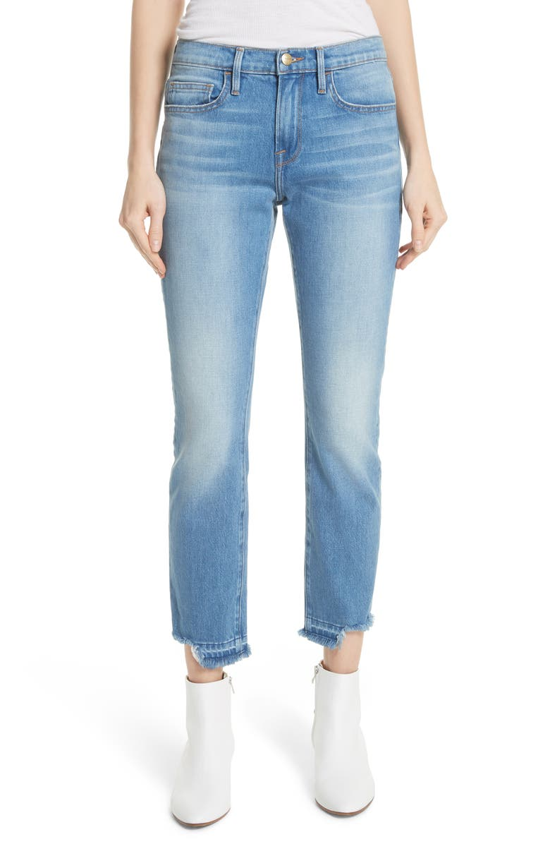 Le Boy Released Cut Hem Straight Leg Jeans