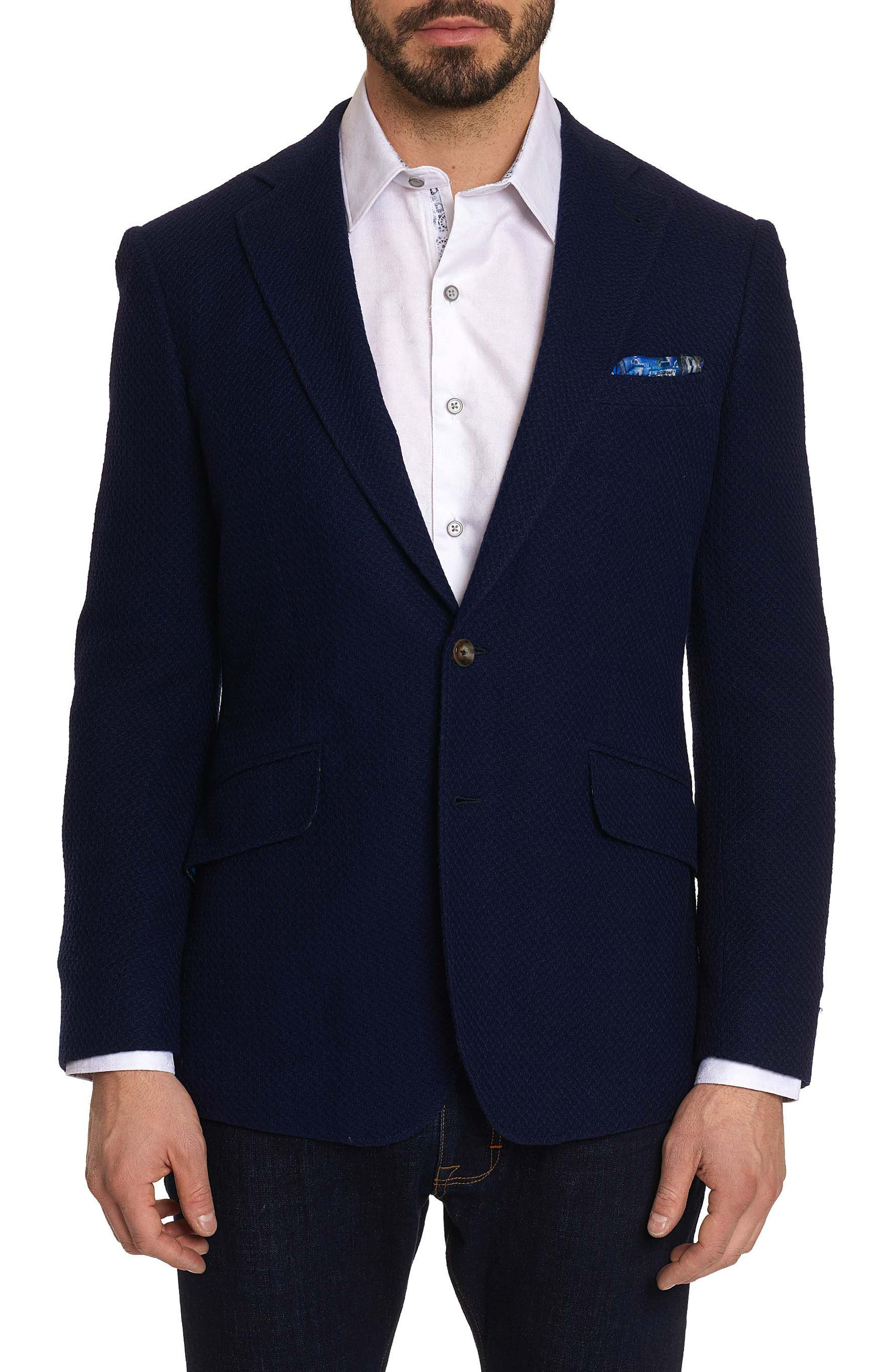 Lauros Woven Sport Coat,                         Main,                         color, Navy