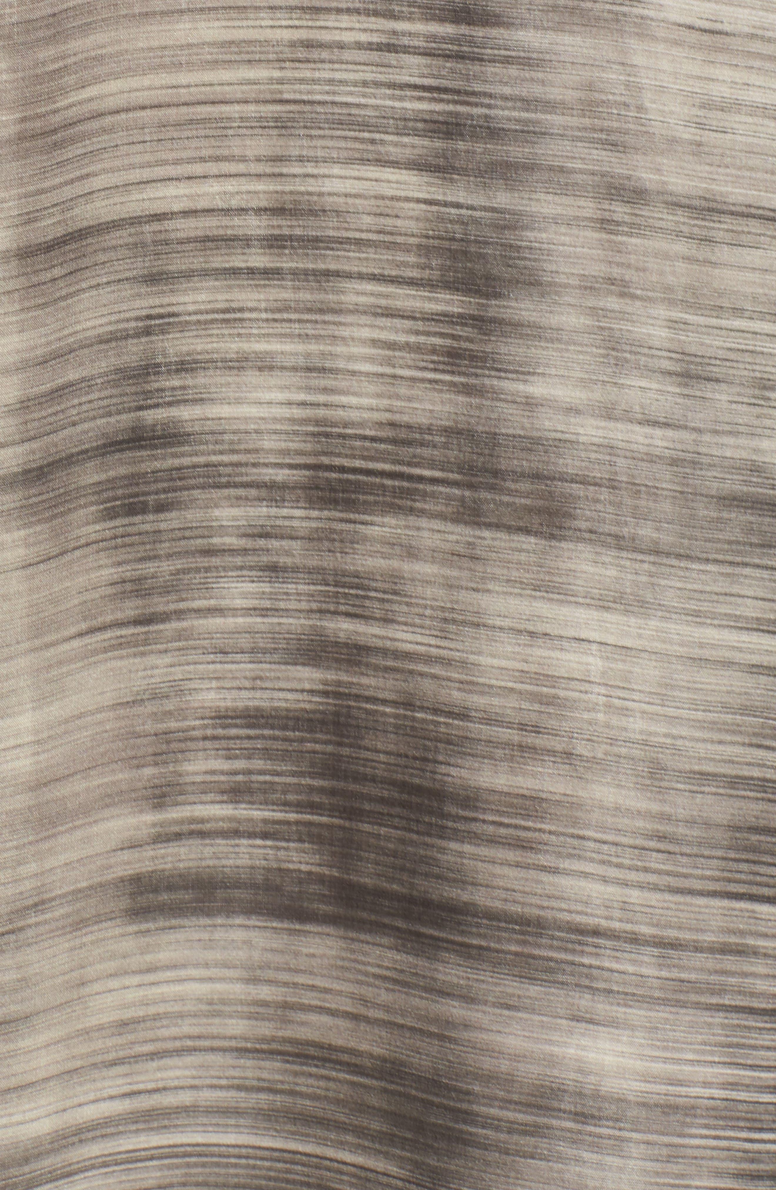 Silk Midi Dress,                             Alternate thumbnail 6, color,                             Limestone