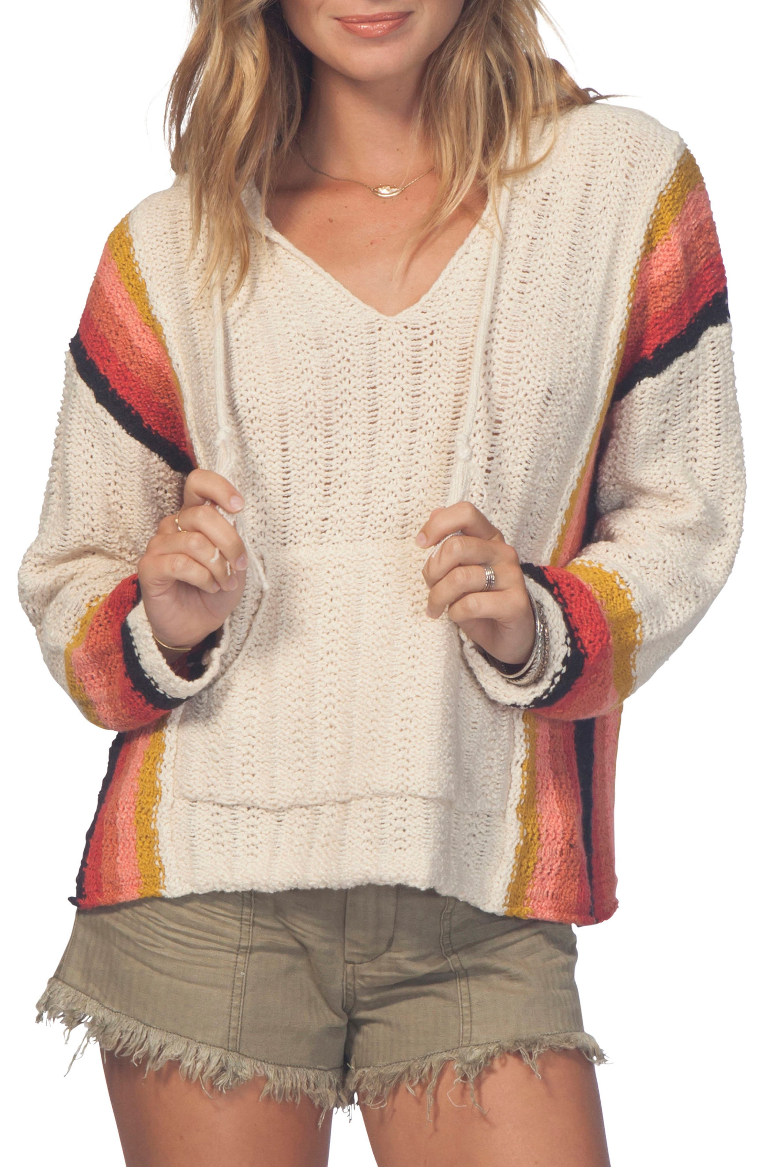 Dreamscape Poncho Sweater,                             Main thumbnail 1, color,                             Multicao