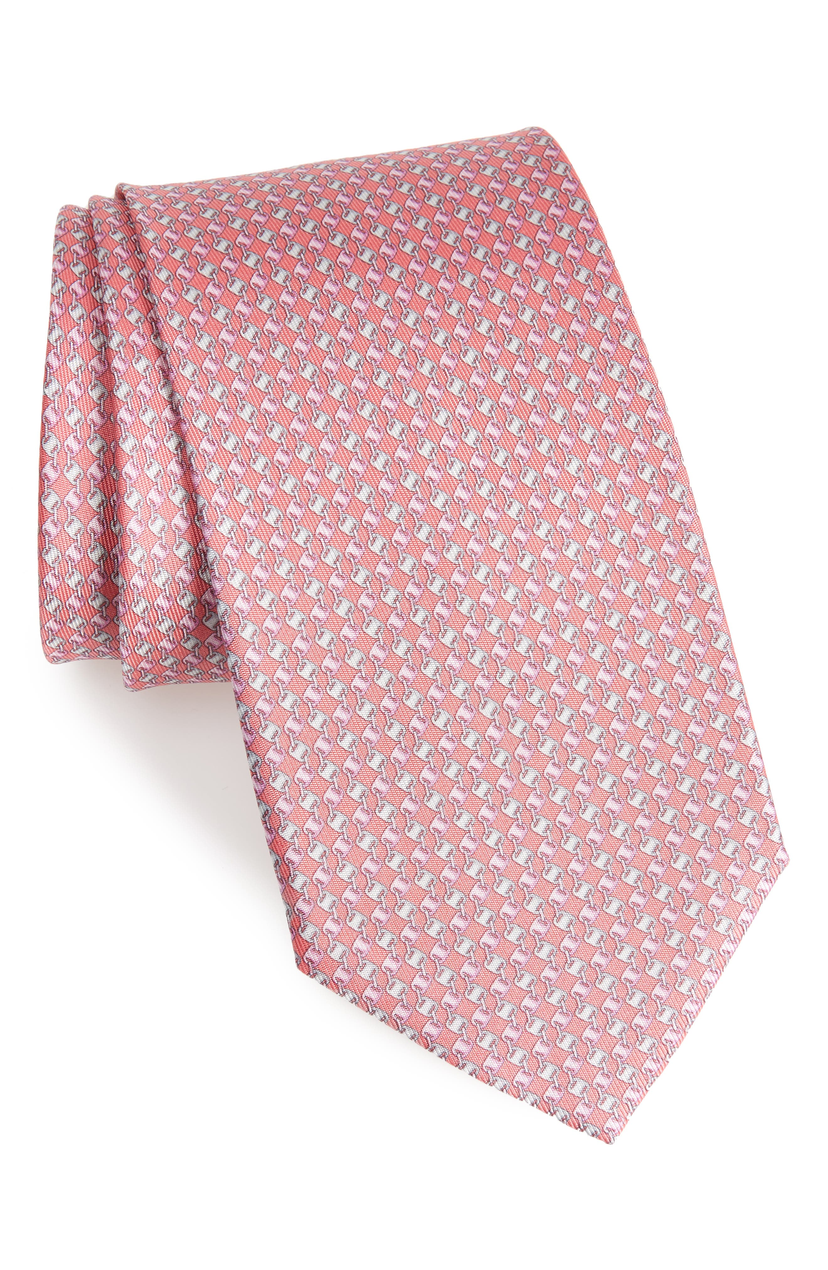 Salvatore Ferragamo Oara Print Silk Tie