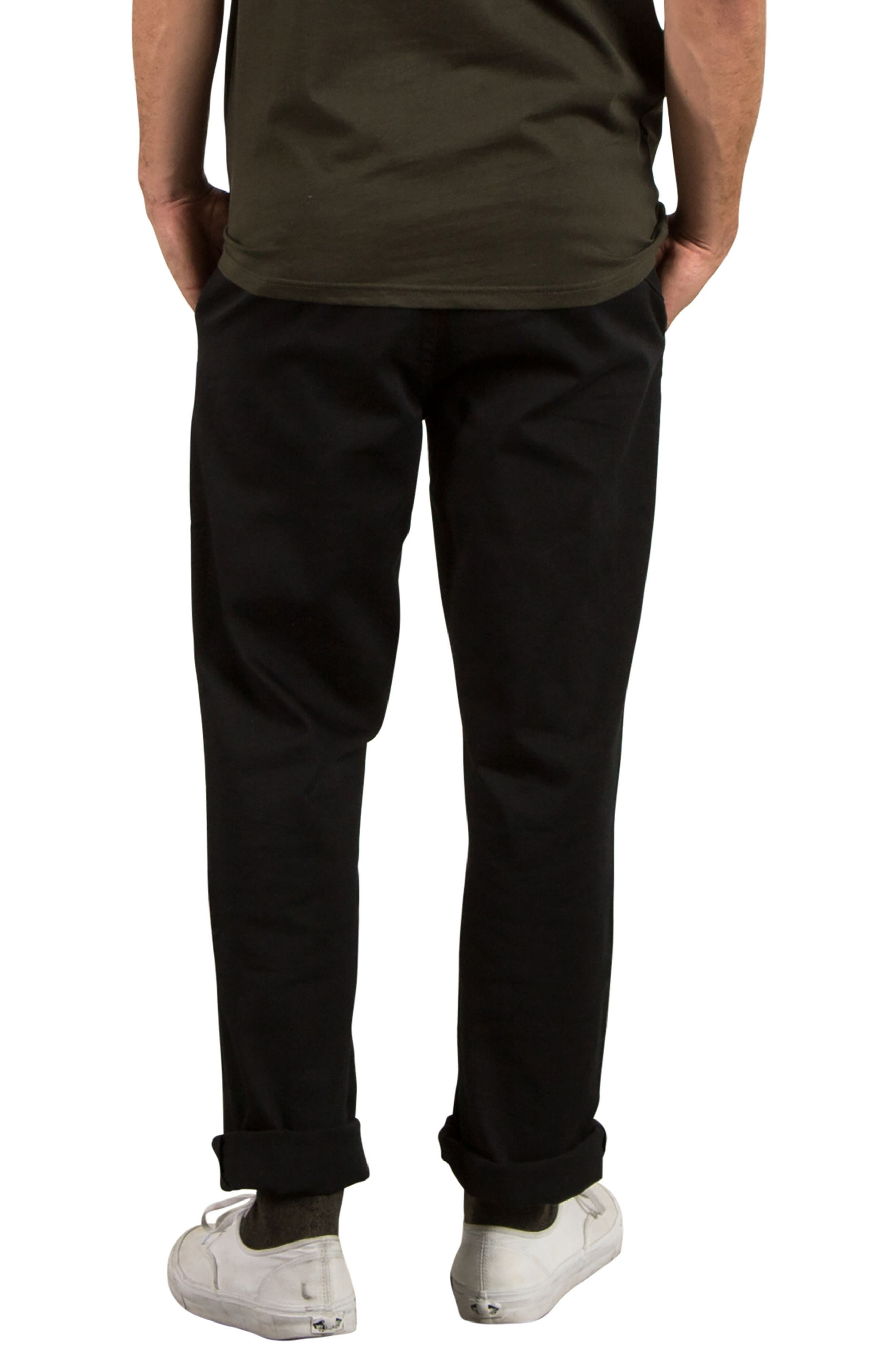 Modern Chinos,                             Alternate thumbnail 2, color,                             Black