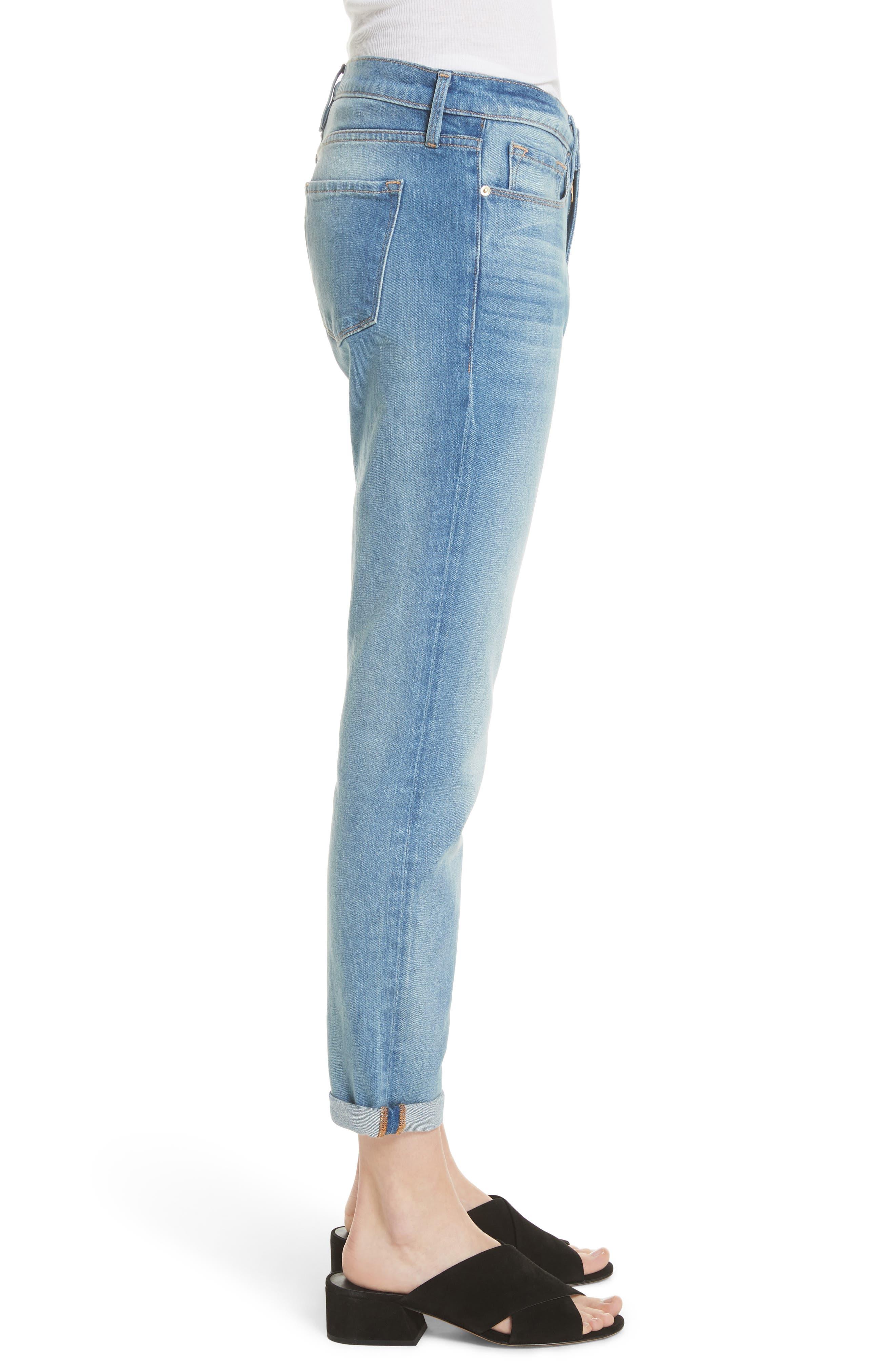 Le Garcon Crop Slim Boyfriend Jeans,                             Alternate thumbnail 5, color,                             Silva
