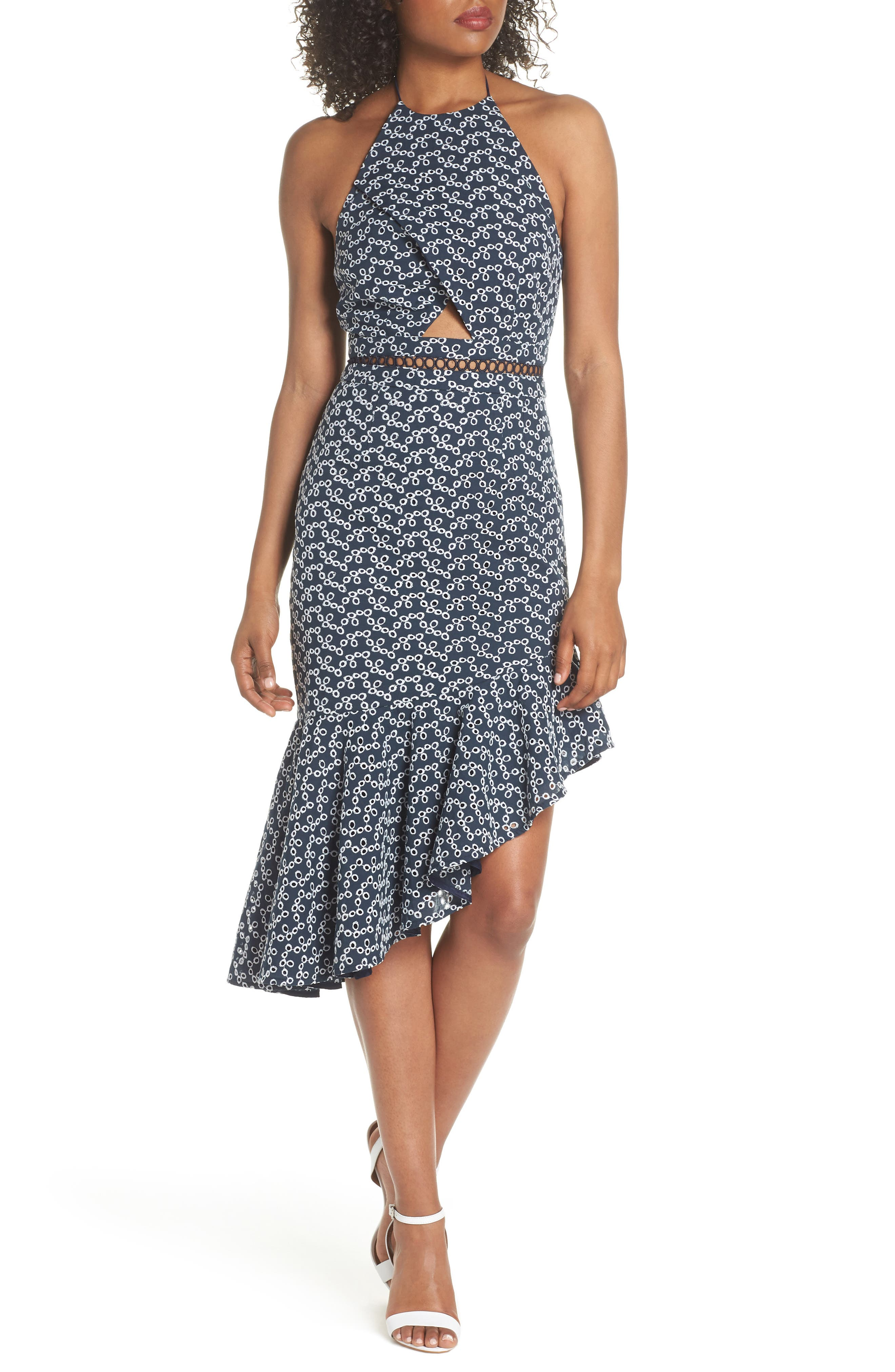 Keepsake the Label Blossom Embroidered Halter Dress