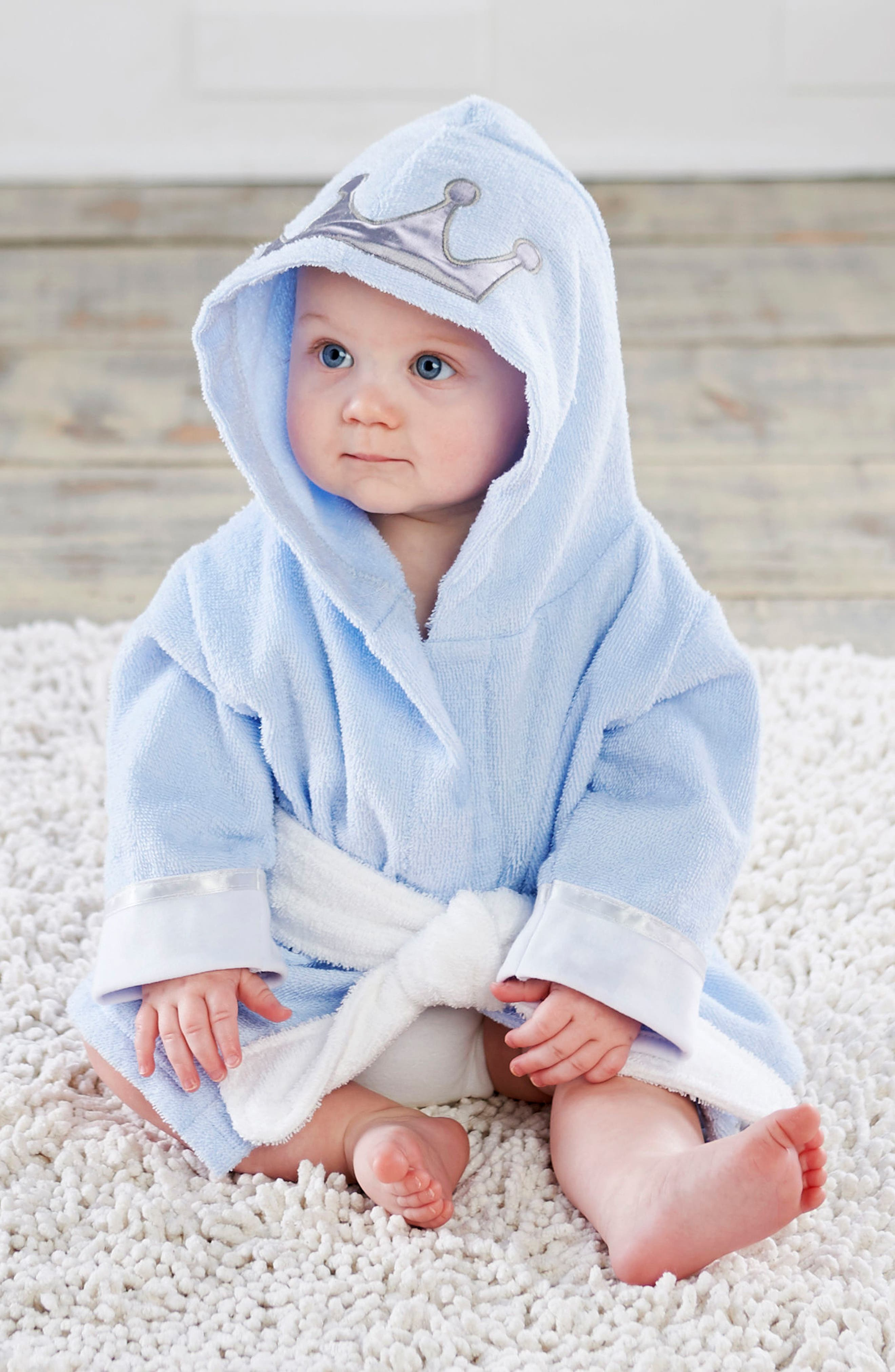 Little Prince Plush Robe, One-Piece Pajamas & Hat Set,                             Alternate thumbnail 3, color,