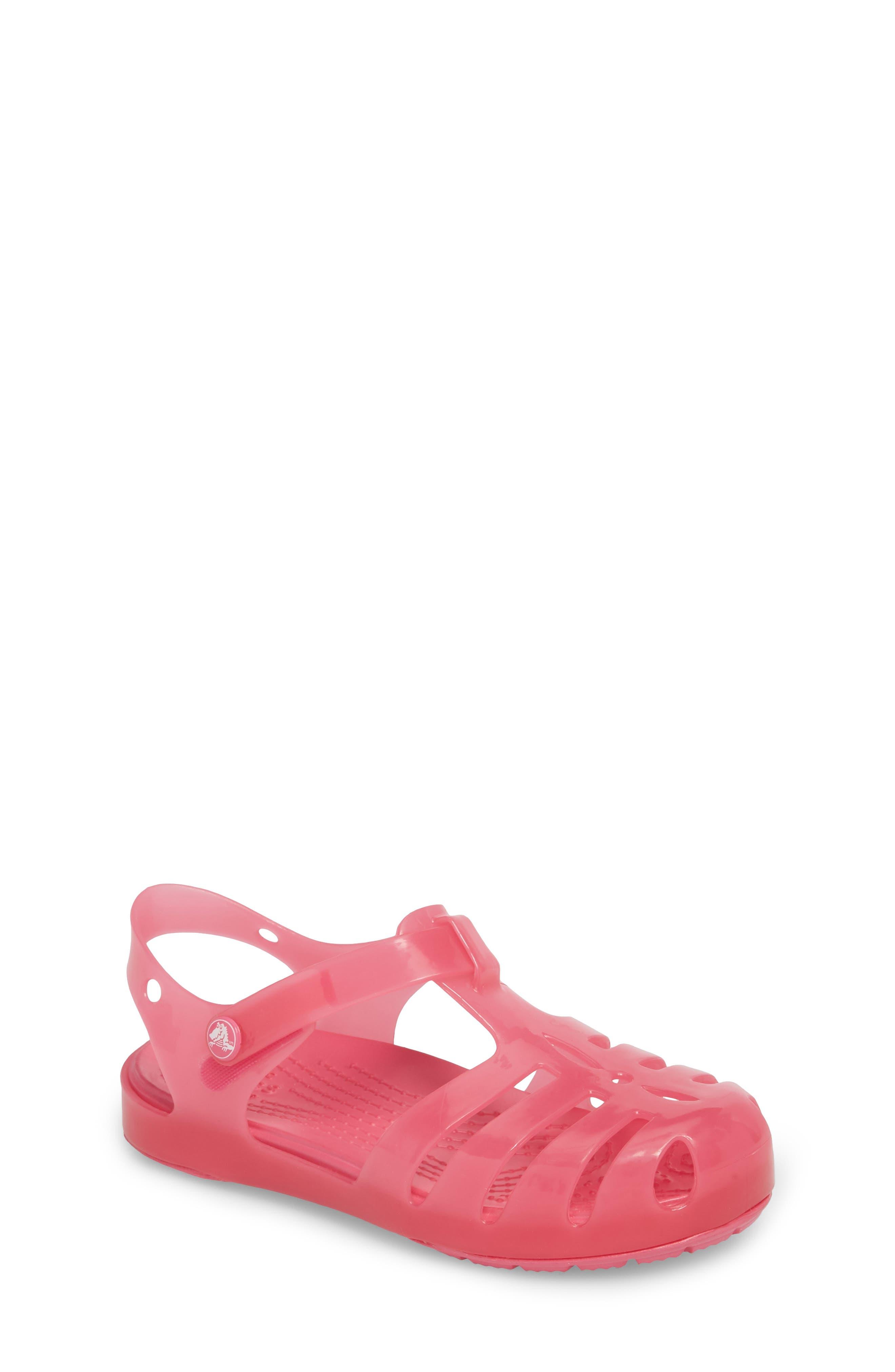 Isabella Glitter Fisherman Sandal,                         Main,                         color, Paradise Pink