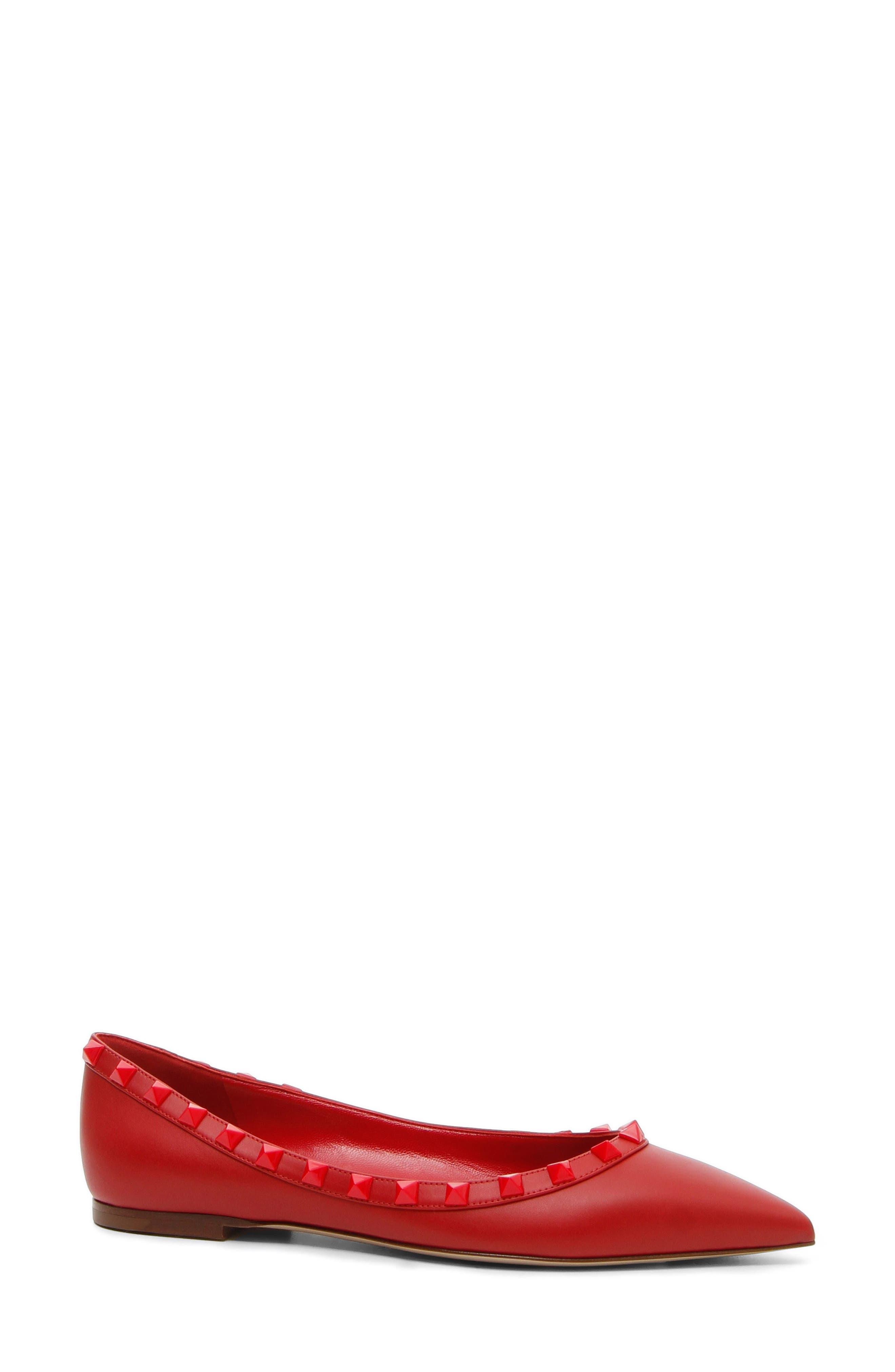 VALENTINO GARAVANI Rockstud Ballerina Flat (Women)