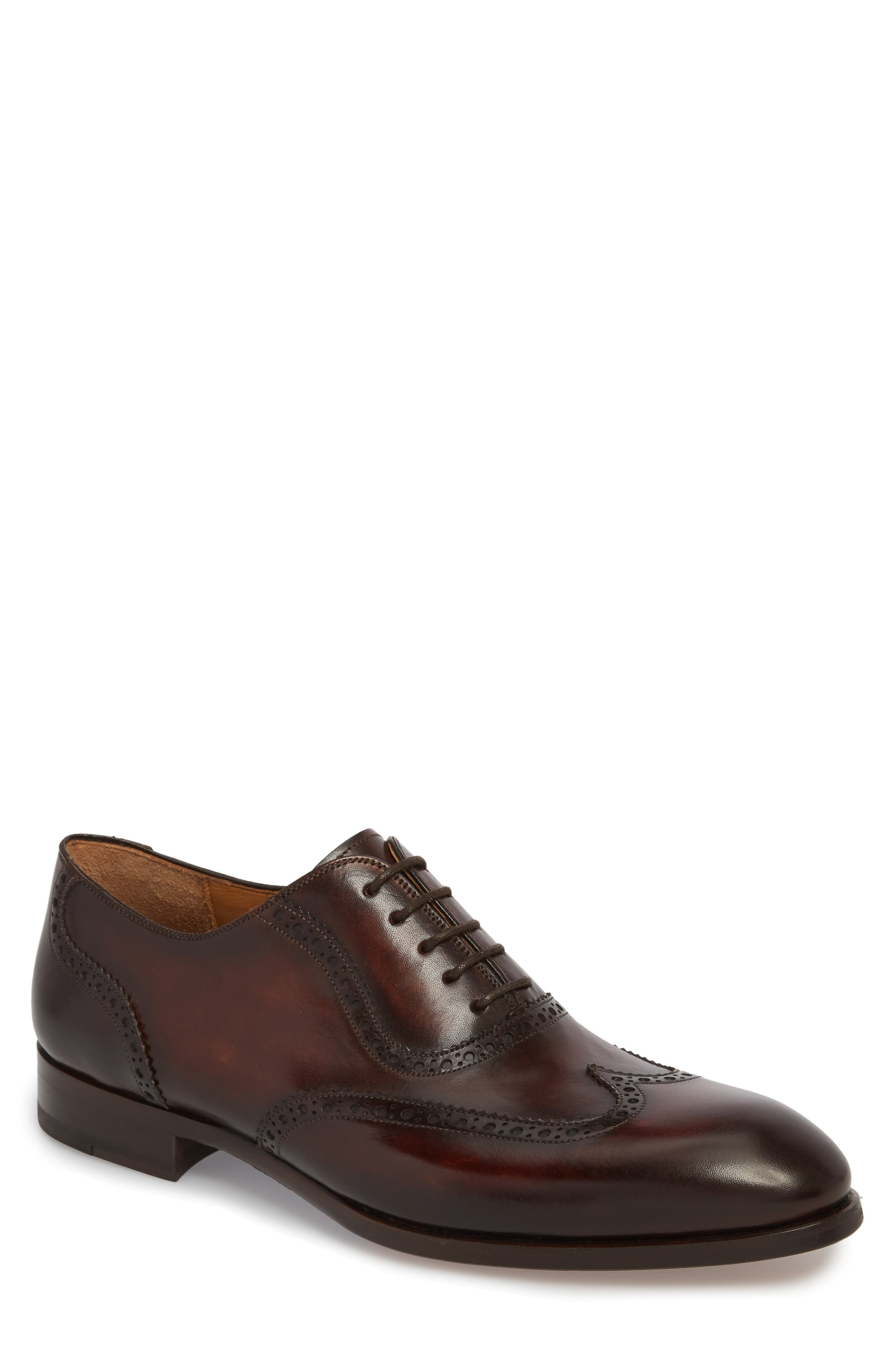 Dana Wingtip Oxford,                             Main thumbnail 1, color,                             Mid-Brown Leather