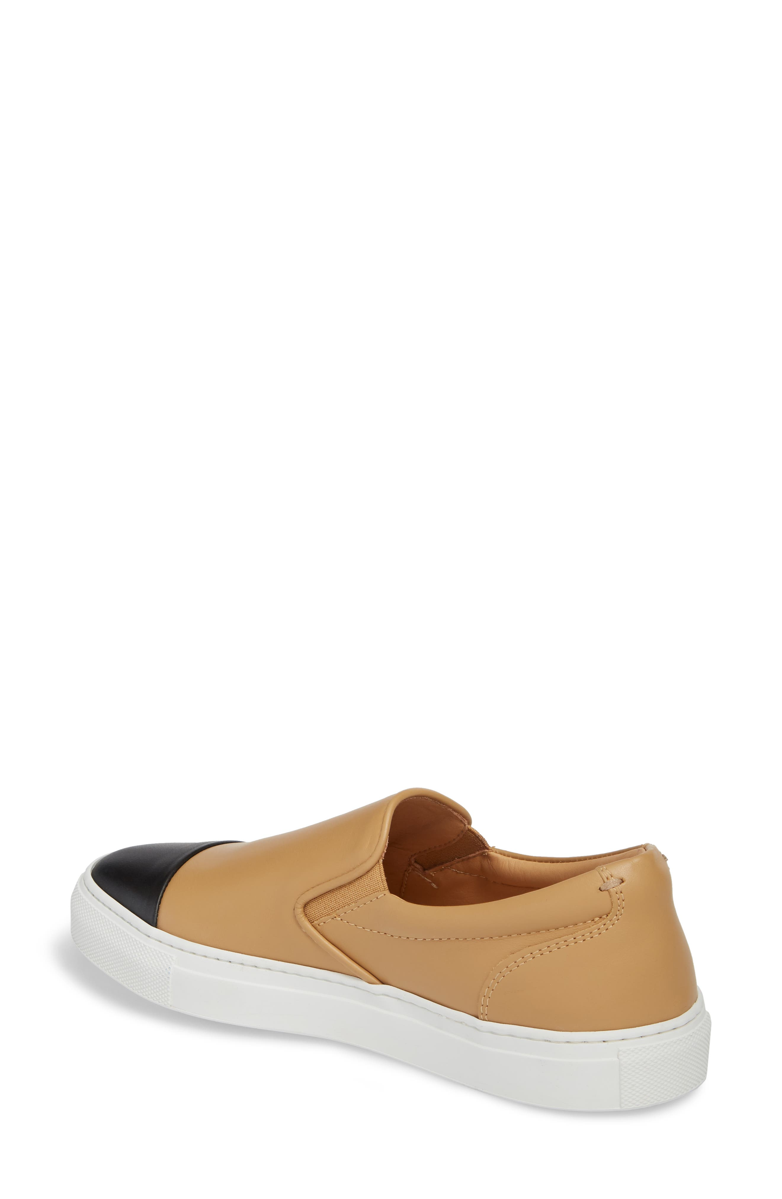 Wooster Cap Toe Slip-On Sneaker,                             Alternate thumbnail 2, color,                             Almond