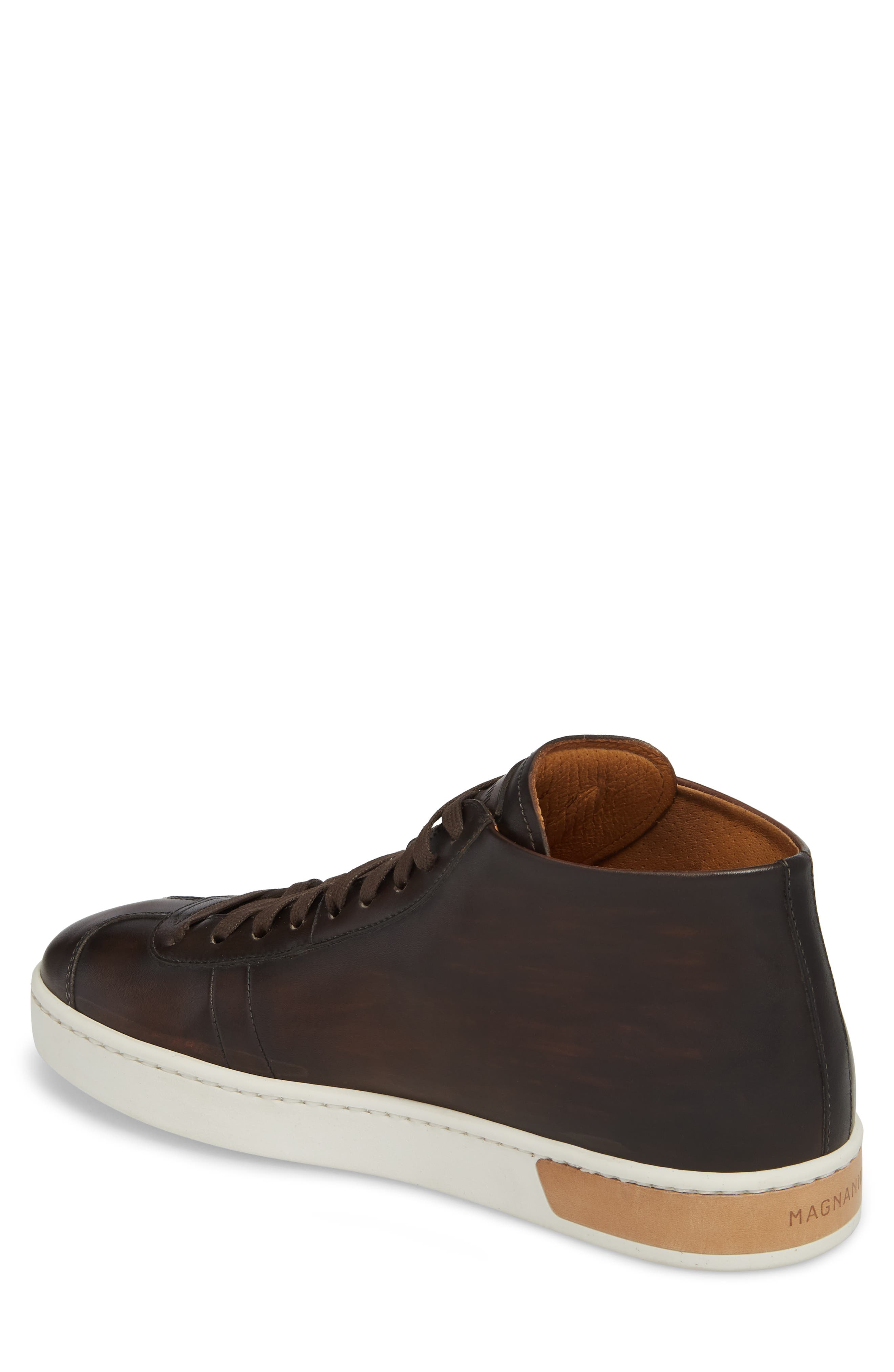 Gunner Mid Top Sneaker,                             Alternate thumbnail 2, color,                             Brown Leather