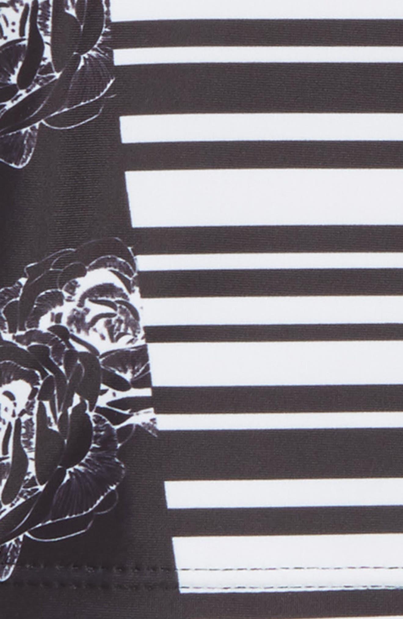Two-Piece Rashguard Swimsuit,                             Alternate thumbnail 2, color,                             Black