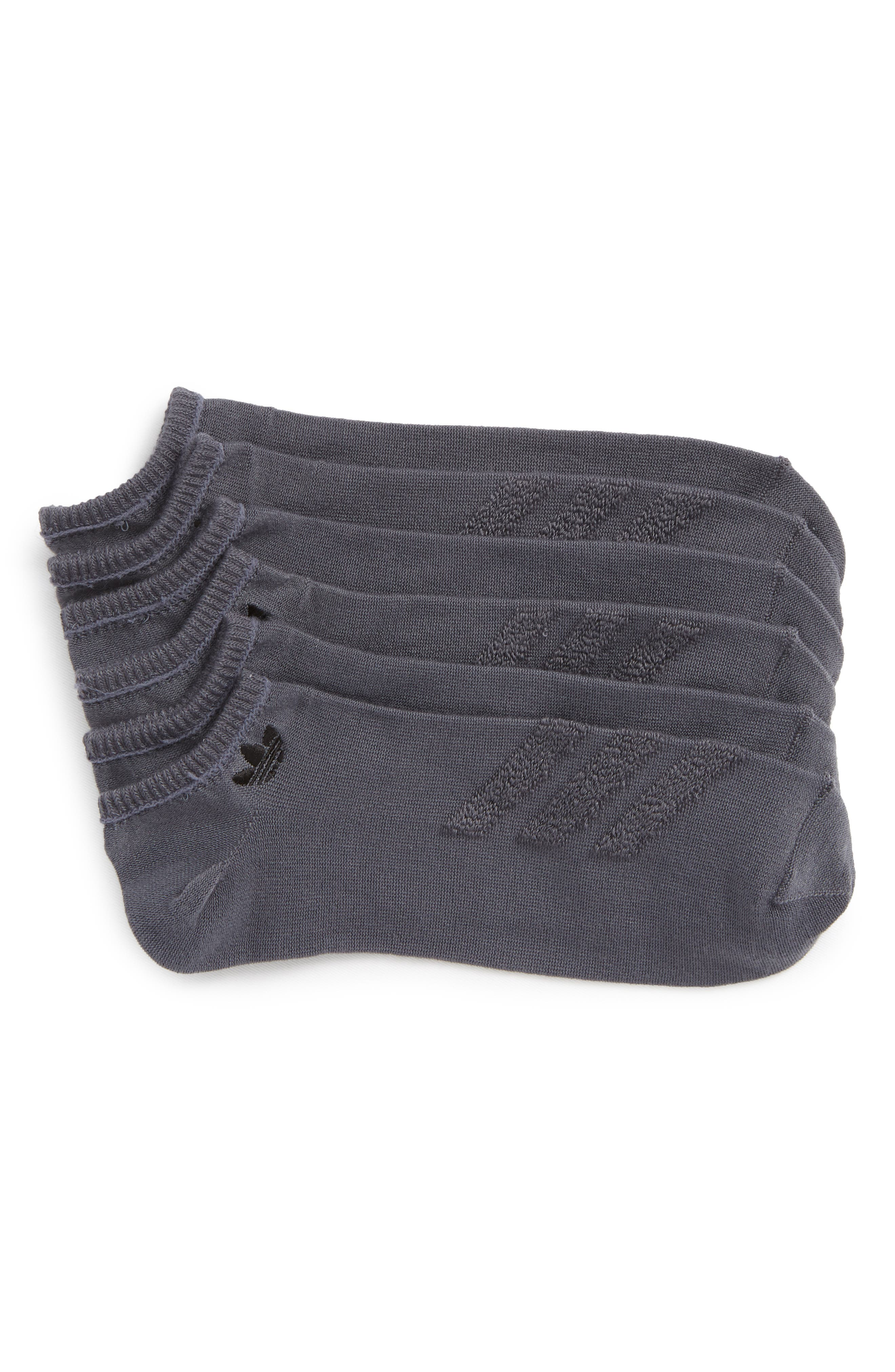 3-Pack Ankle Socks,                         Main,                         color, Dark Grey