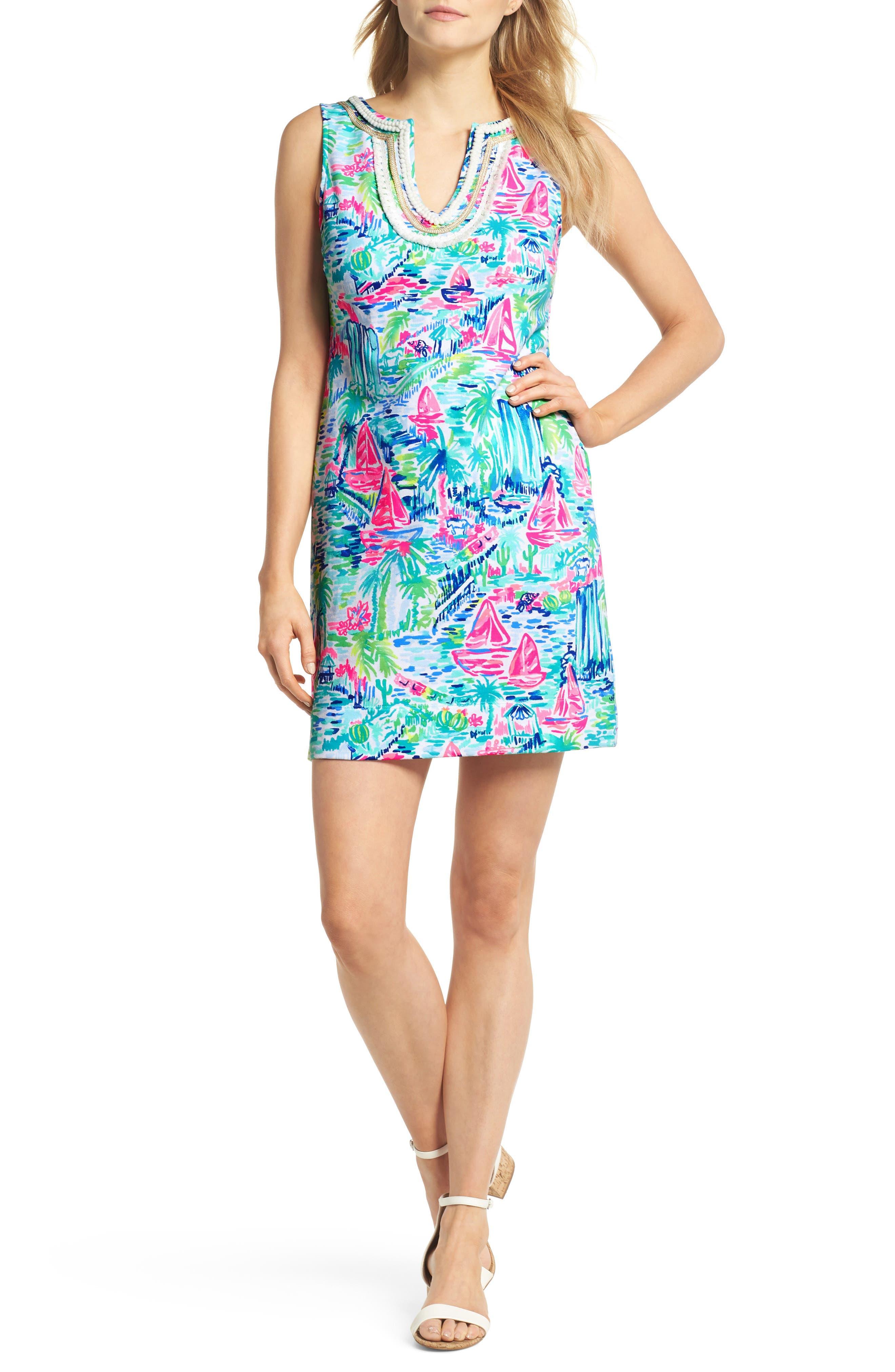 Harper Shift Dress,                         Main,                         color, Multi