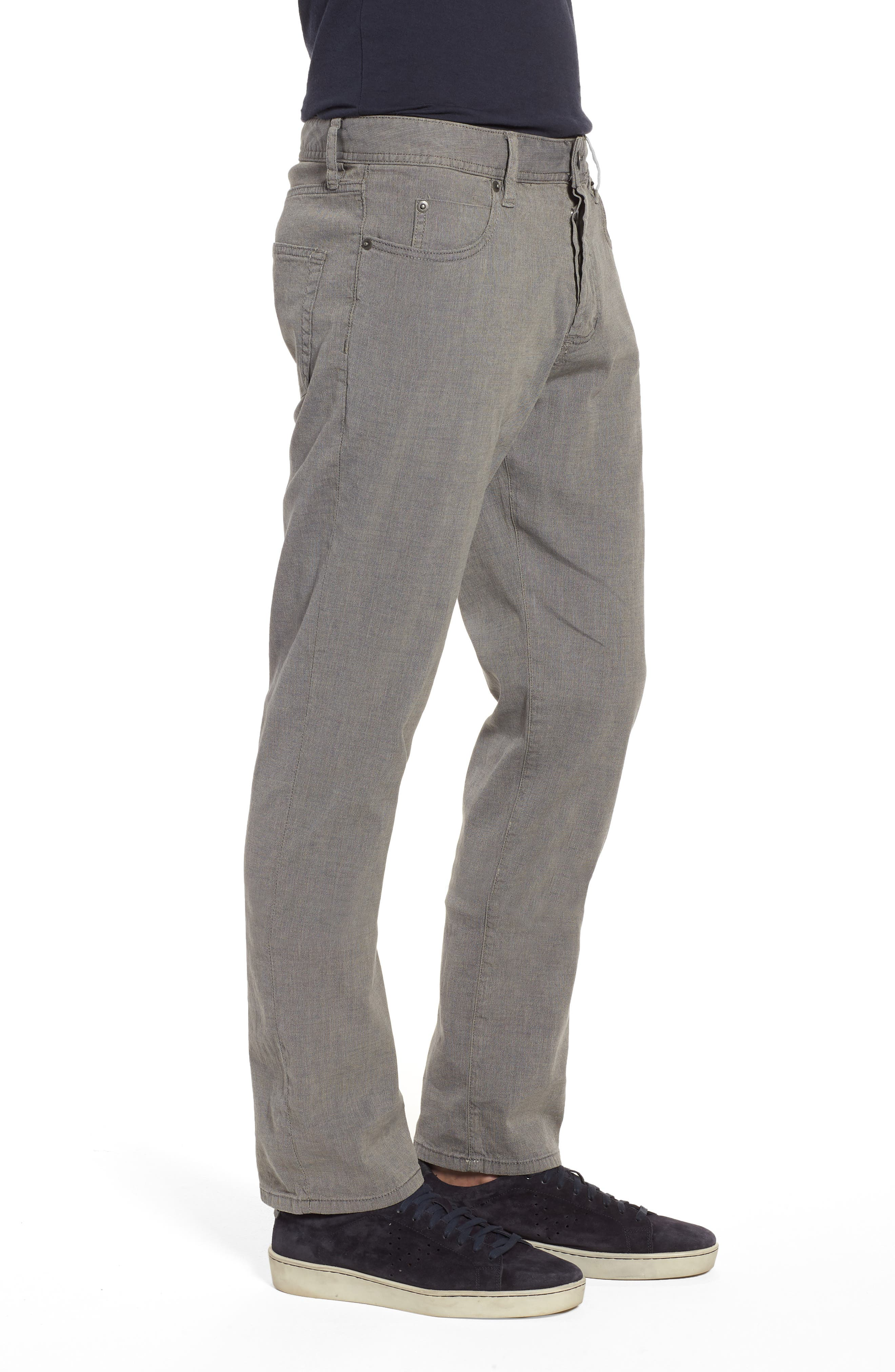 Straight Leg Five-Pocket Pants,                             Alternate thumbnail 3, color,                             Grey