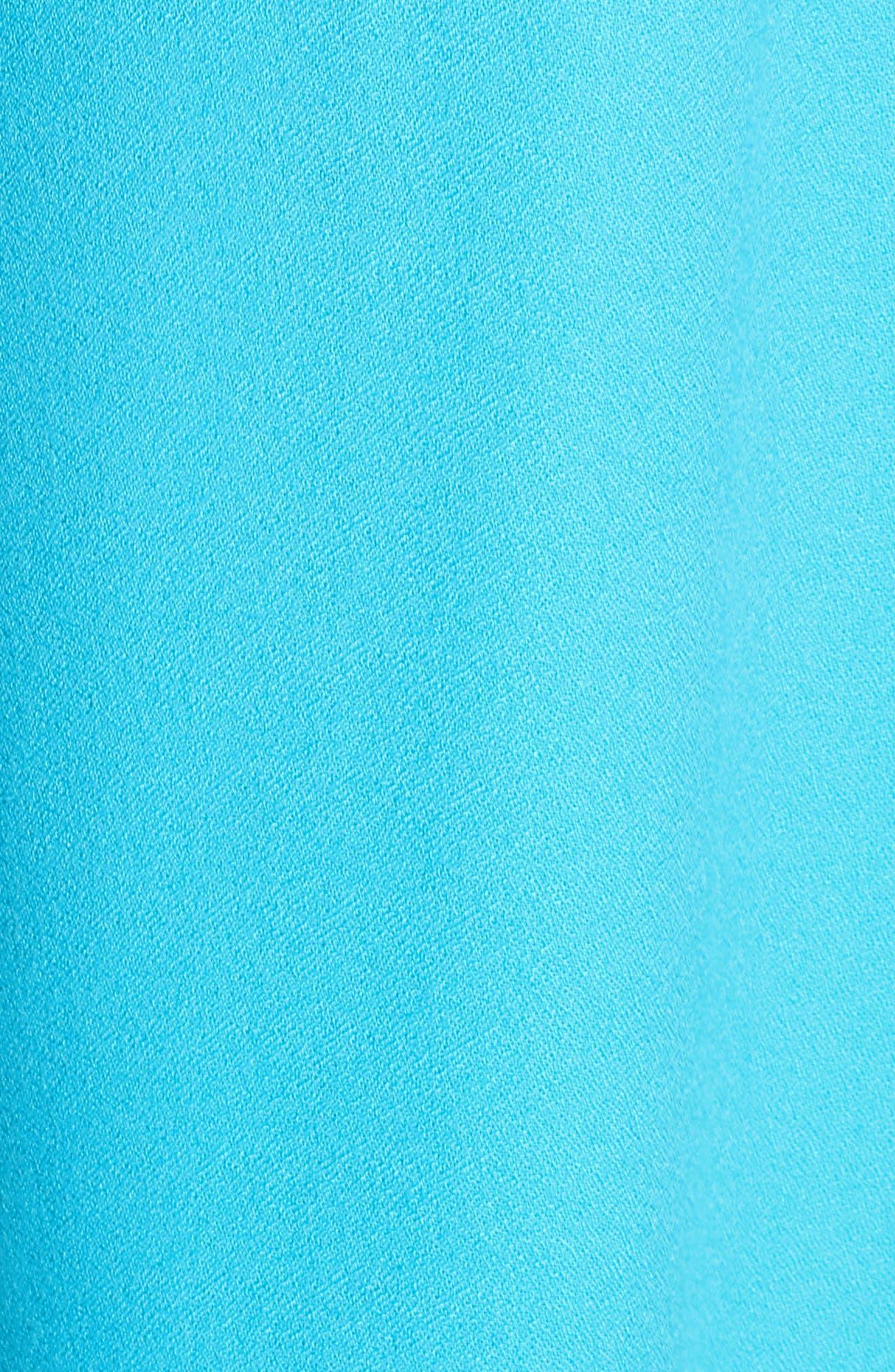 Jane Embroidered Shift Dress,                             Alternate thumbnail 6, color,                             Blue Ibiza