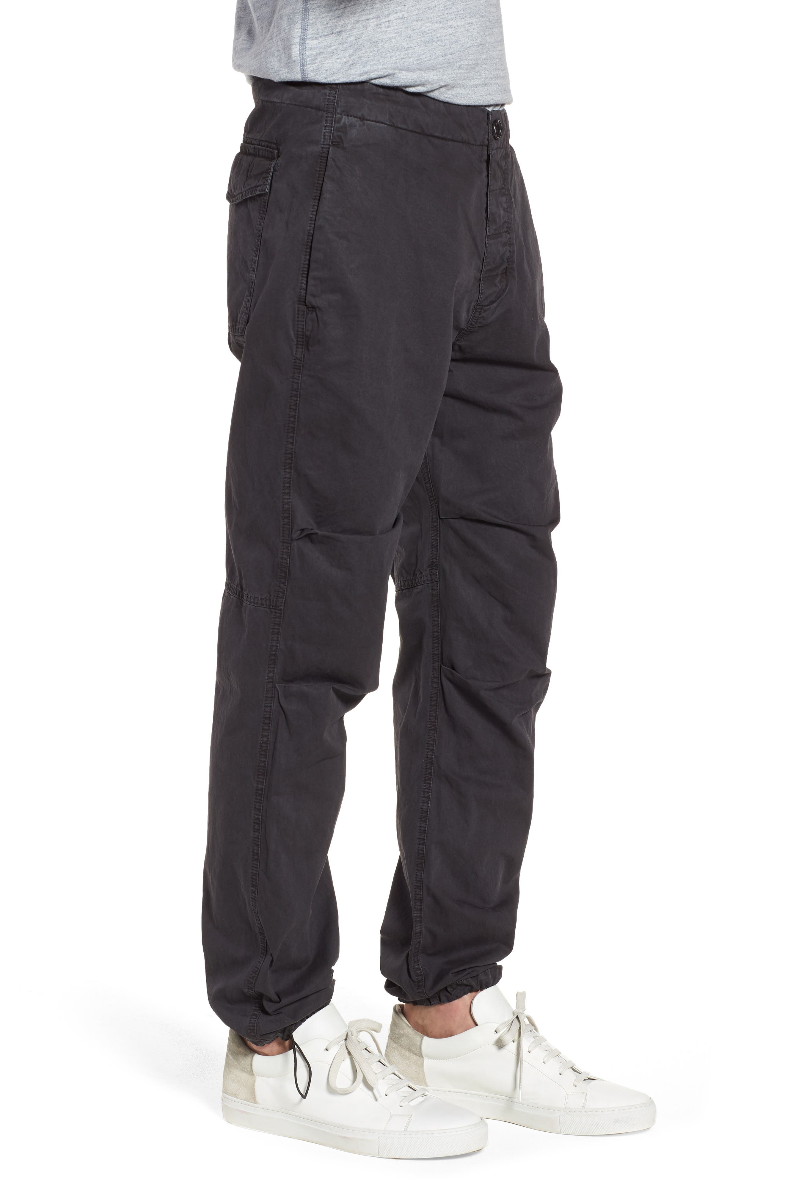 Relaxed Fit Cotton Twill Pants,                             Alternate thumbnail 3, color,                             Grey