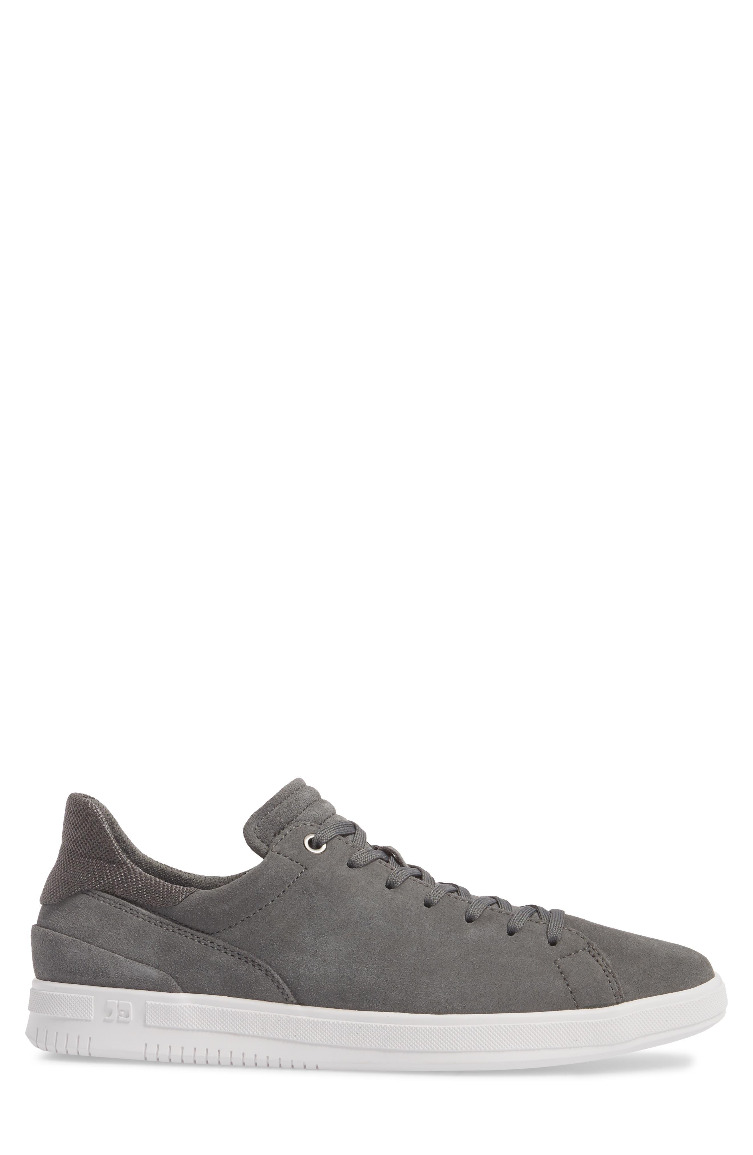Joe Mama Low Top Sneaker,                             Alternate thumbnail 3, color,                             Grey Suede