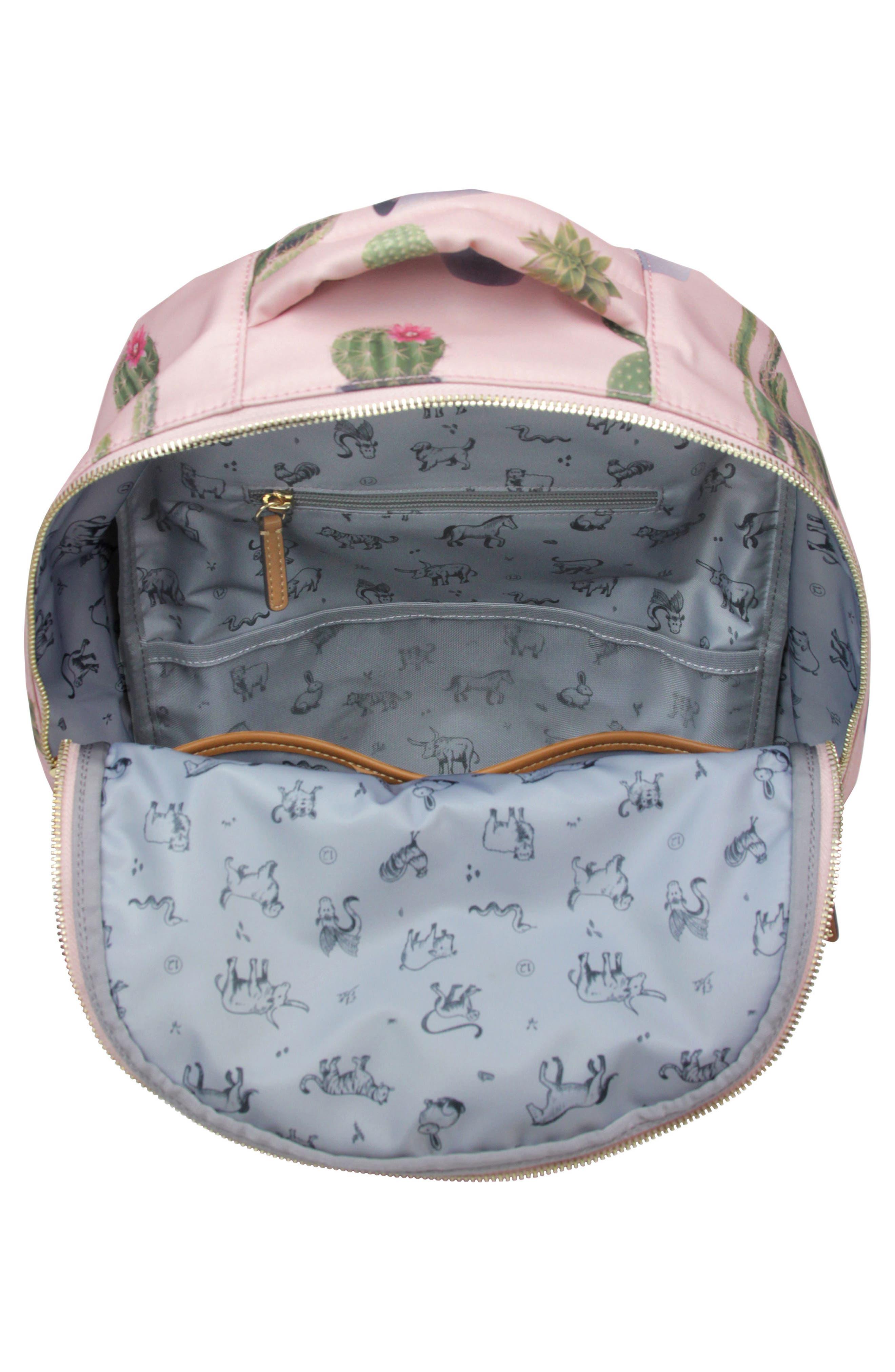 Mini-Go Water Resistant Diaper Backpack,                             Alternate thumbnail 2, color,                             Cactus