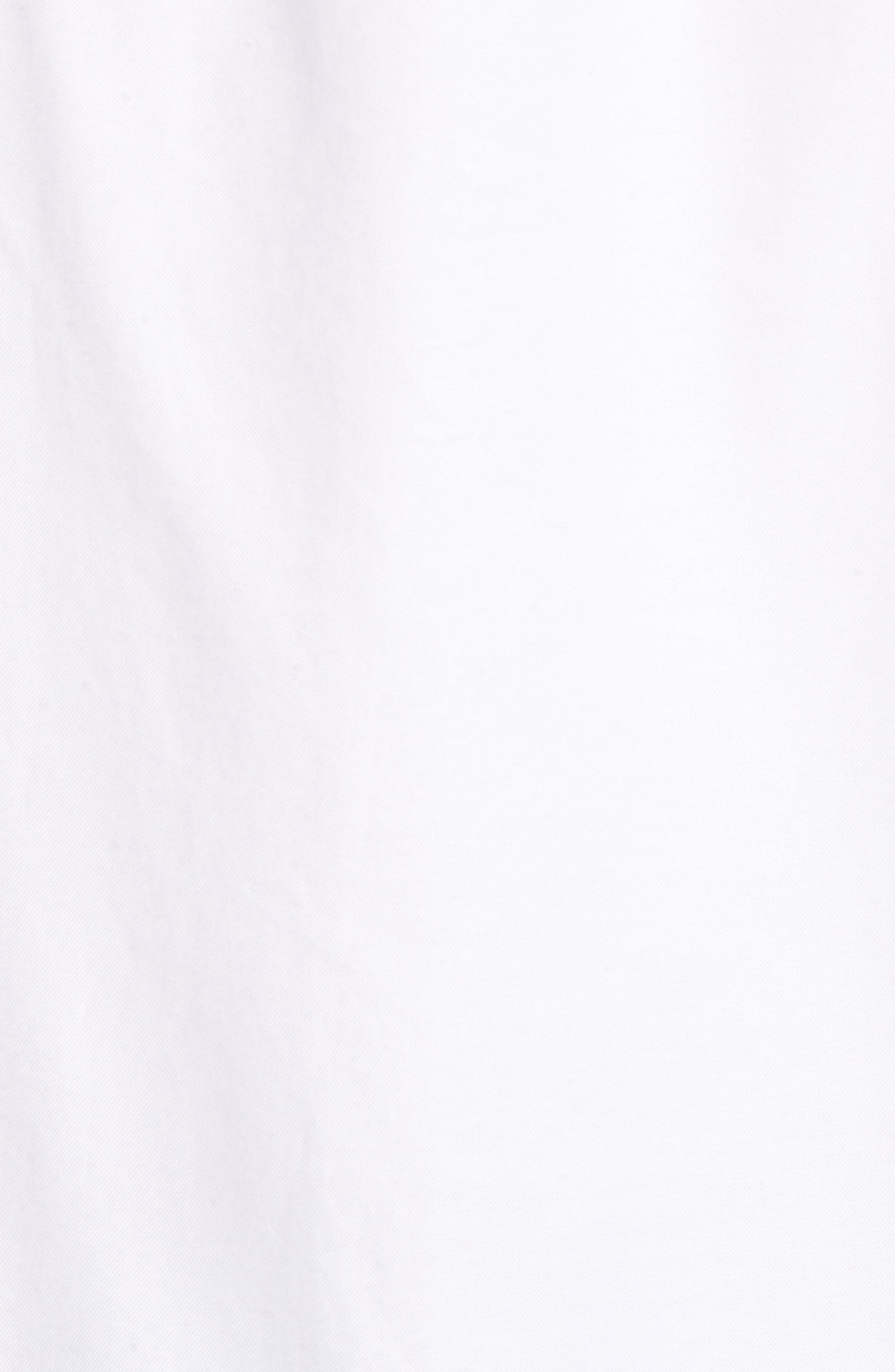 Slim Fit Stretch Pima Cotton Oxford Shirt,                             Alternate thumbnail 5, color,                             White
