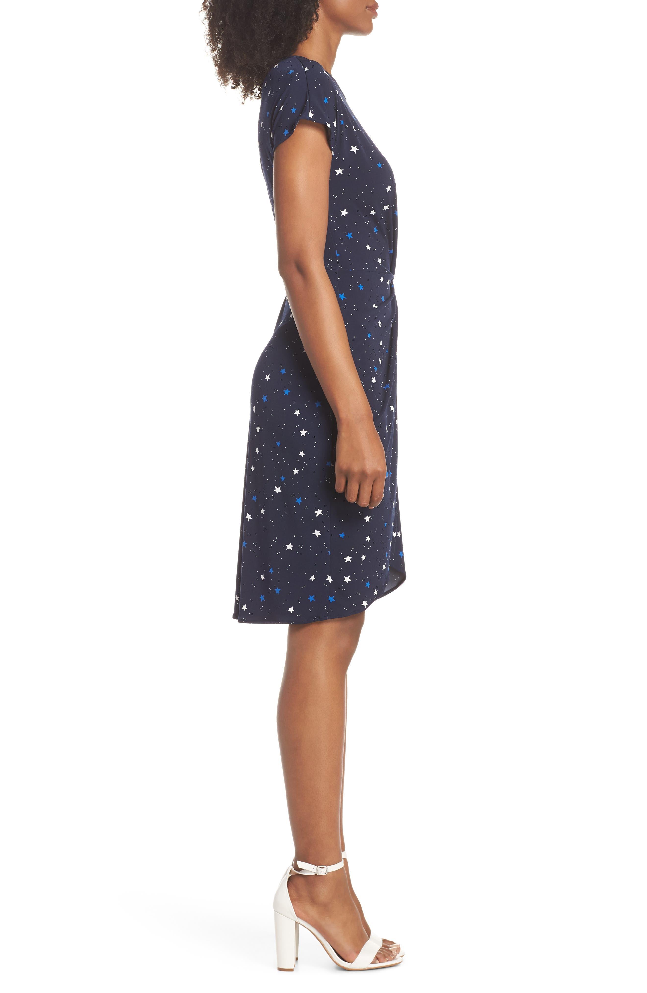 Mini Twist Dress,                             Alternate thumbnail 3, color,                             Galaxy