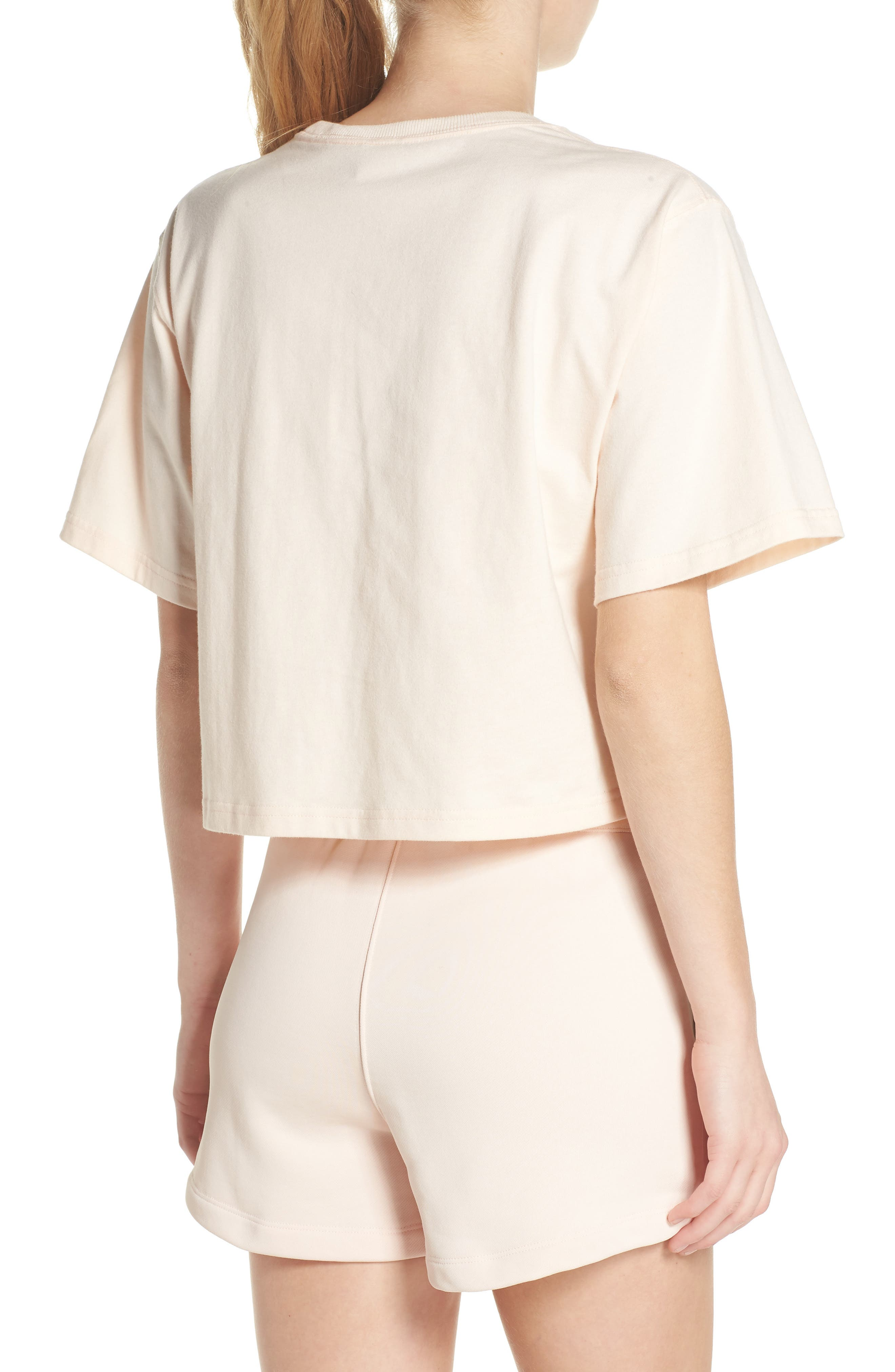 NikeLab Collection Crop Tee,                             Alternate thumbnail 2, color,                             Guava Ice/ Black