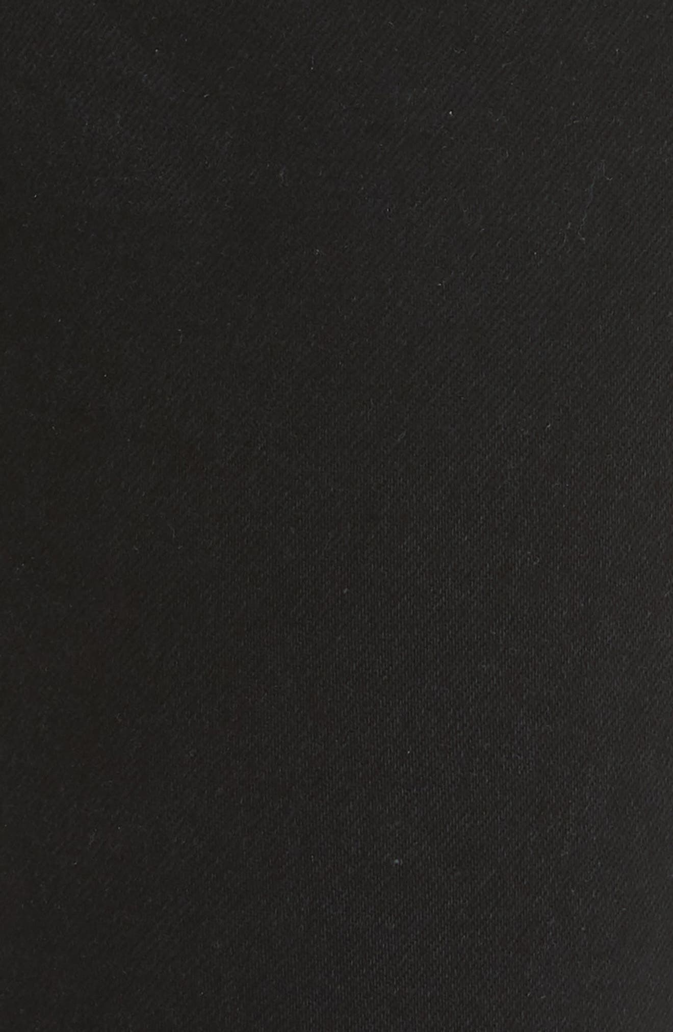 High Waist Ankle Jeans,                             Alternate thumbnail 6, color,                             Black Destroy