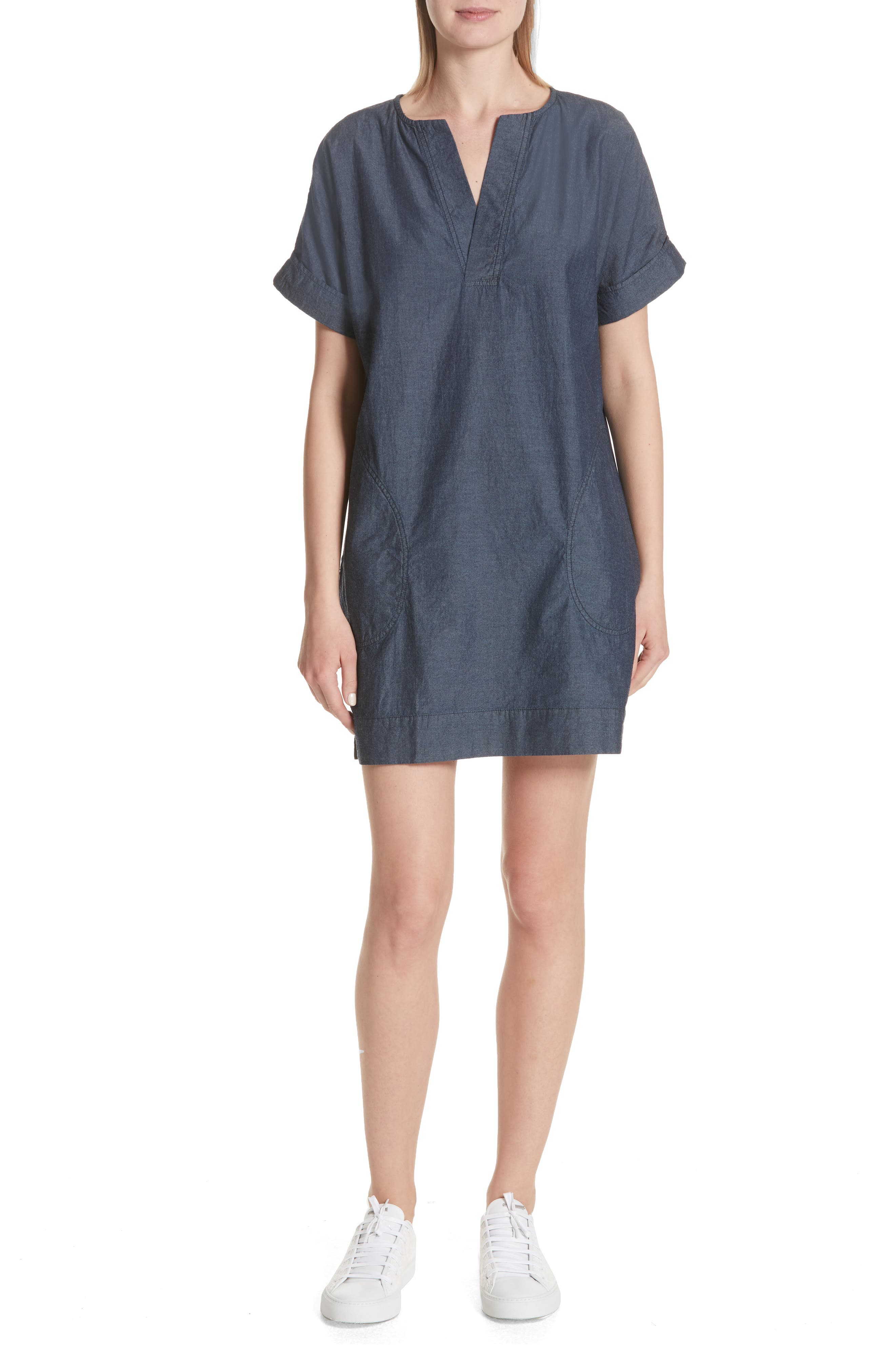 ATM Anthony Thomas Melillo Chambray Shift Dress (Nordstrom Exclusive)