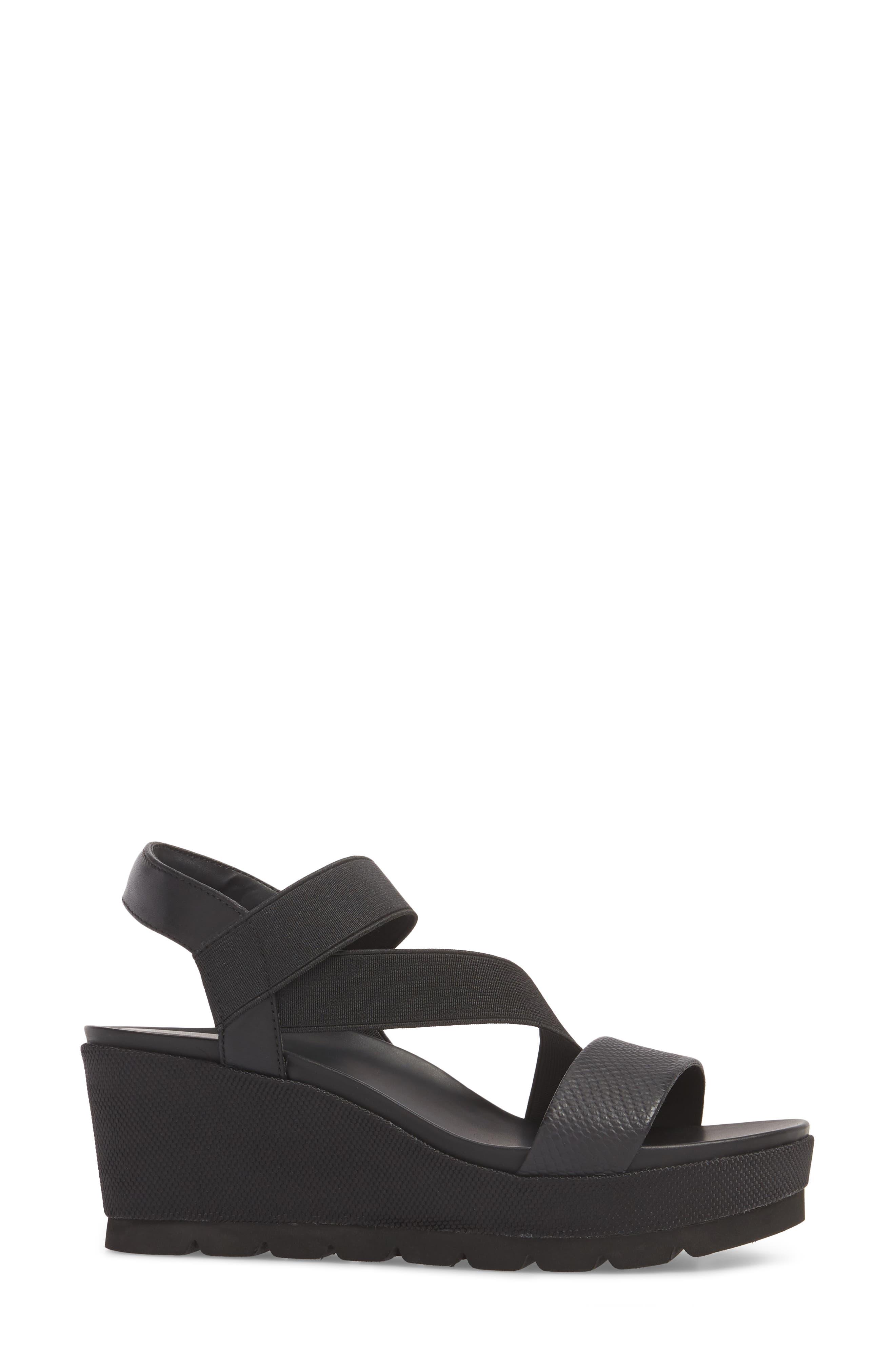 TT-Gabel Sandal,                             Alternate thumbnail 3, color,                             Black Leather