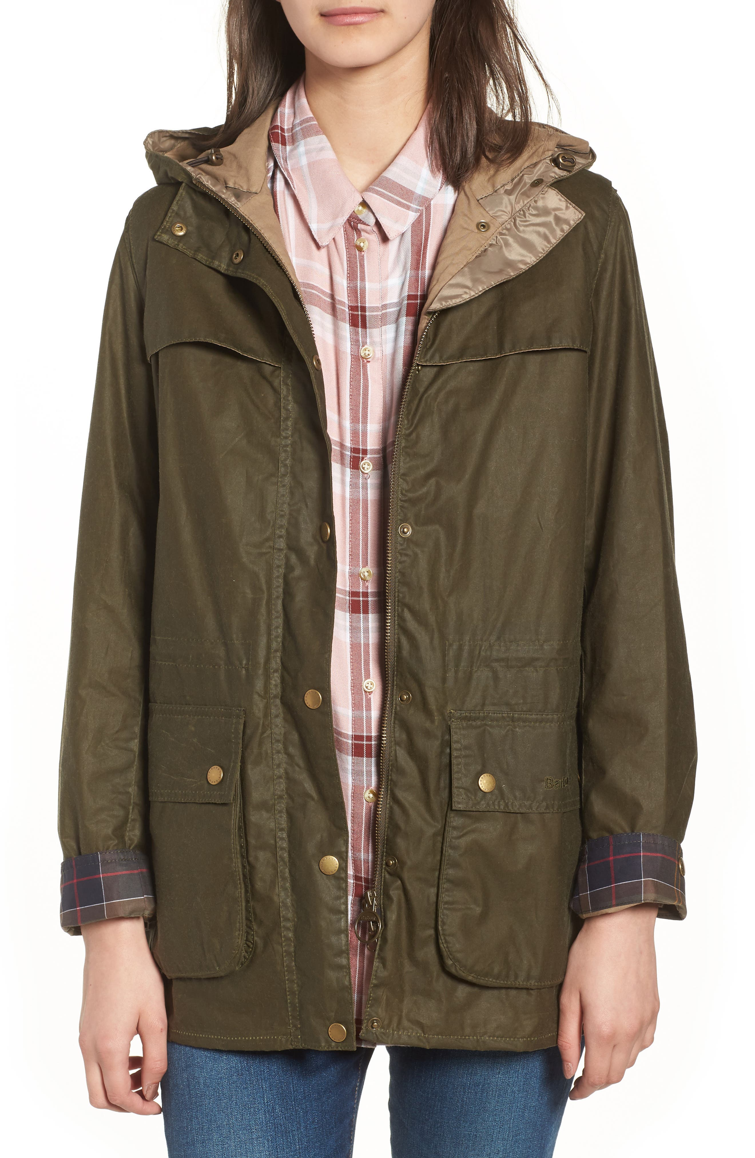 Durham Lightweight Wax Cotton Jacket,                         Main,                         color, Archive Olive