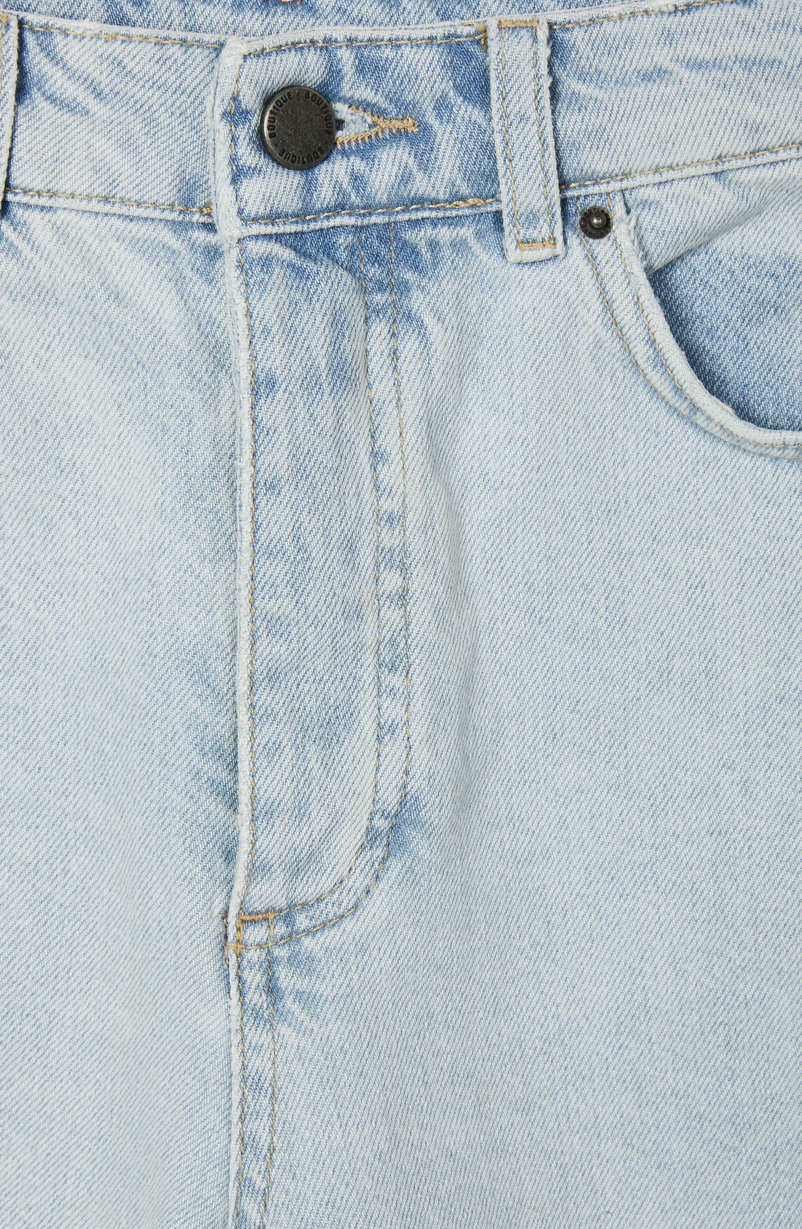 Boutique Bleach Denim Jeans,                             Alternate thumbnail 4, color,                             Light Denim