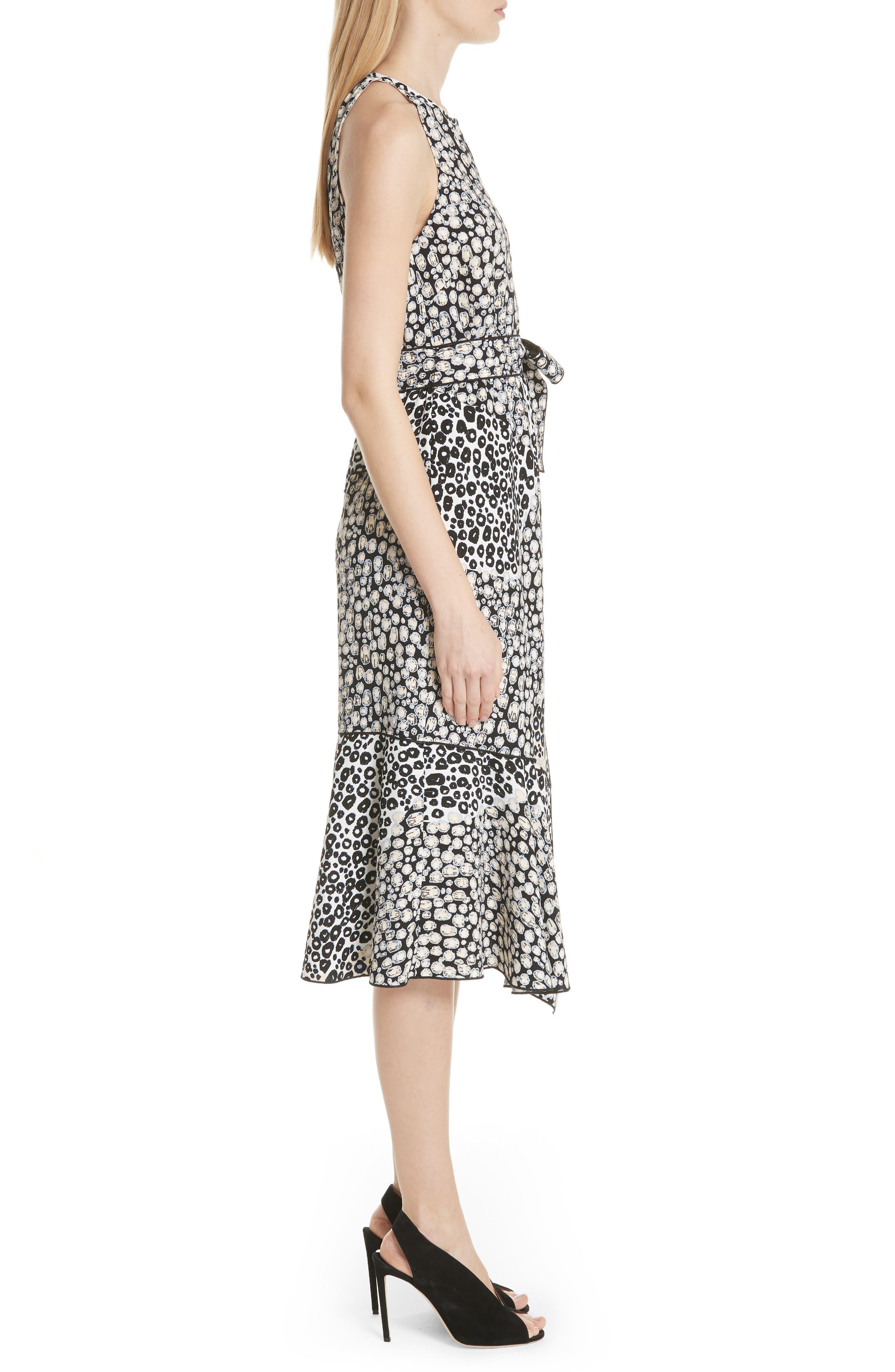 Asymmetrical Faux Wrap Dress,                             Alternate thumbnail 3, color,                             Sandstone