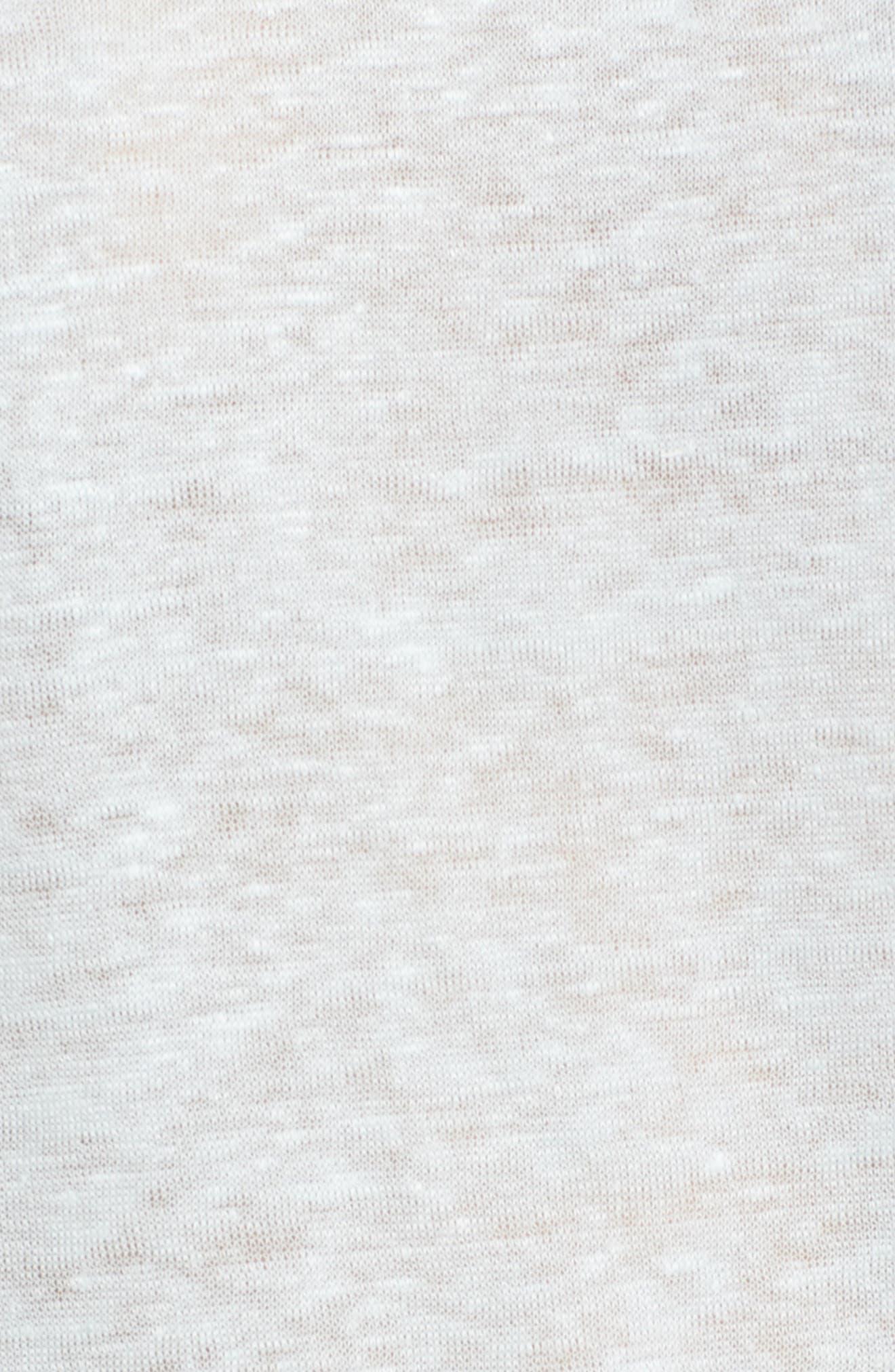 One-Sleeve Linen Tee,                             Alternate thumbnail 6, color,                             Harbor Light