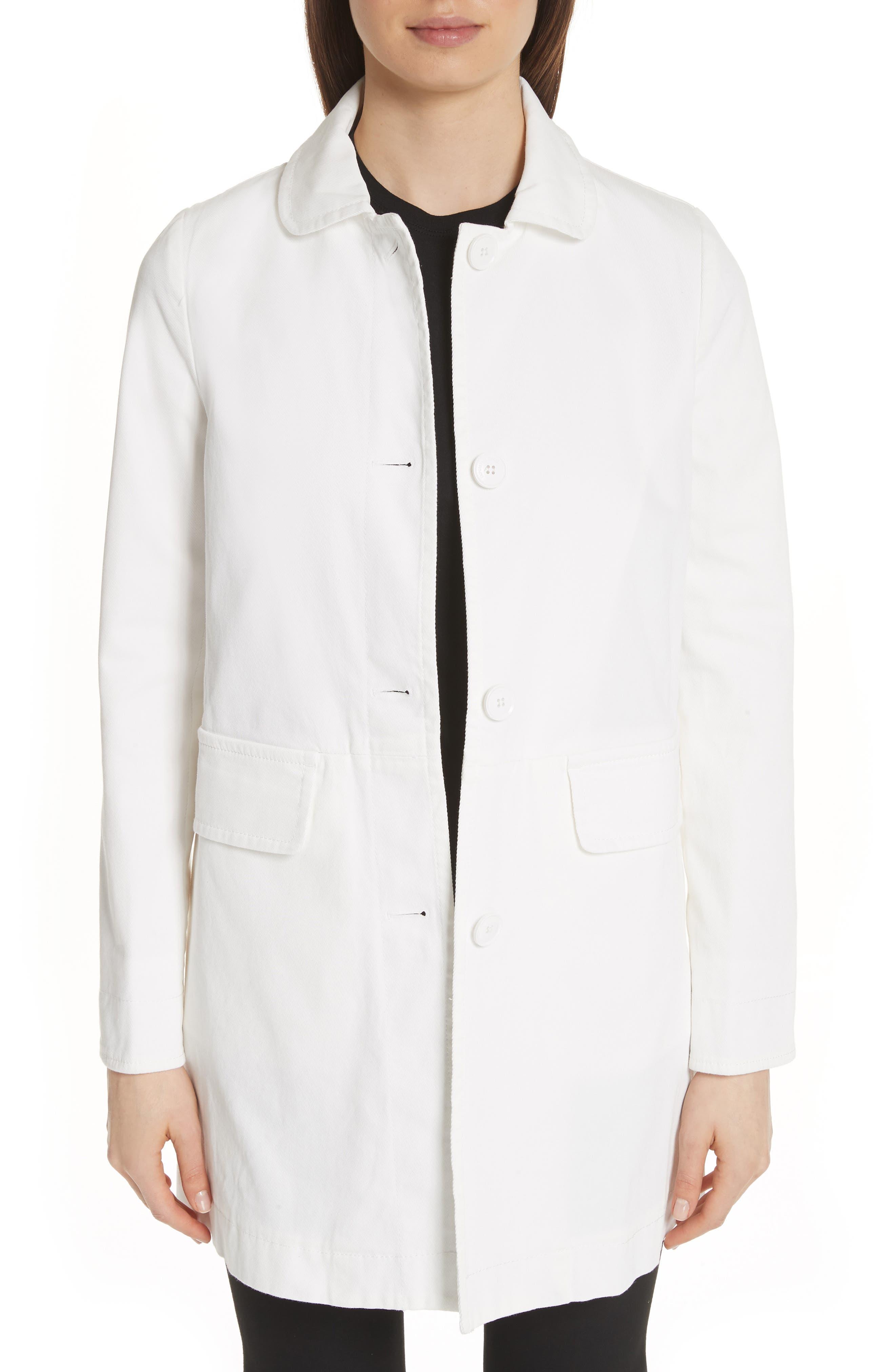 Calvary Stretch Twill Caban Coat,                         Main,                         color, Khaki