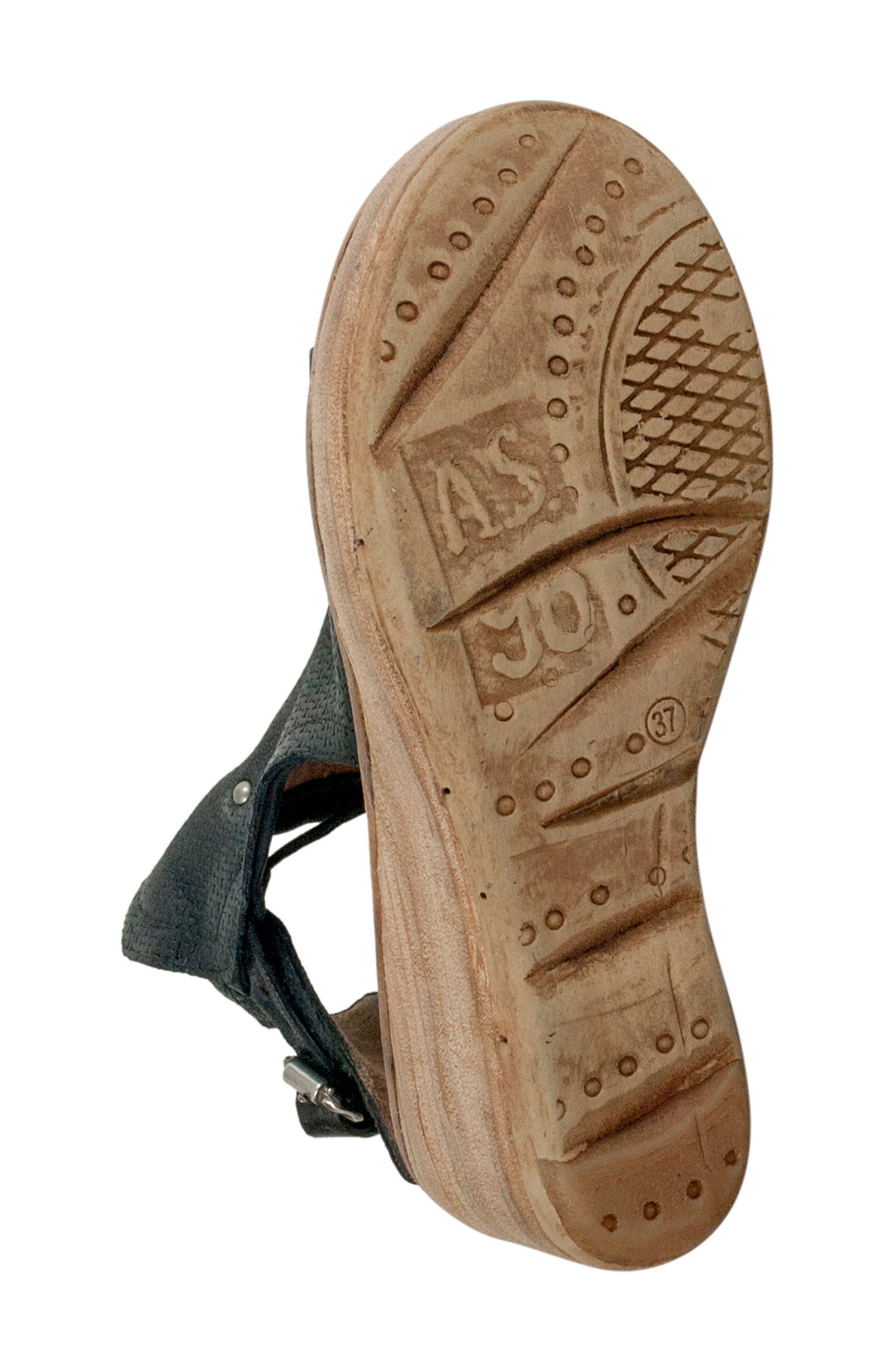 Nathan Platform Wedge Sandal,                             Alternate thumbnail 6, color,                             Black