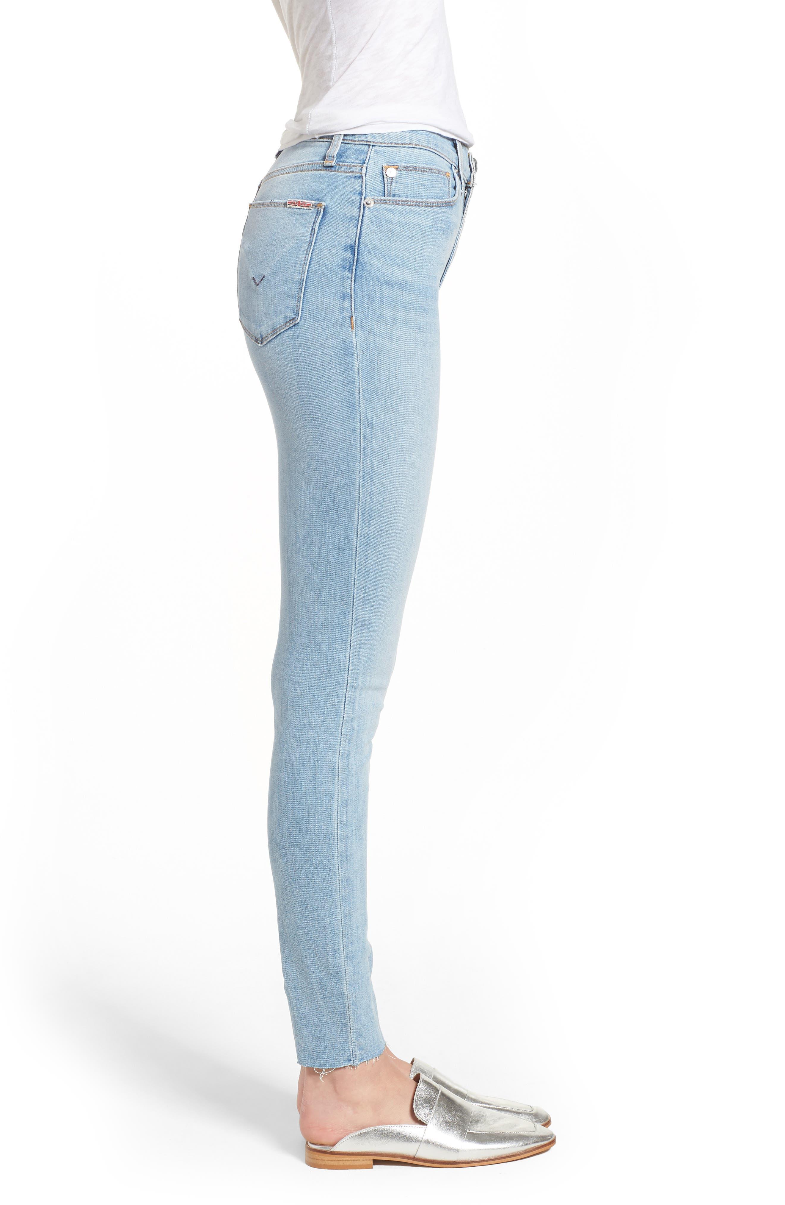 Hudson Barbara High Waist Ankle Skinny Jeans,                             Alternate thumbnail 3, color,                             Gemini