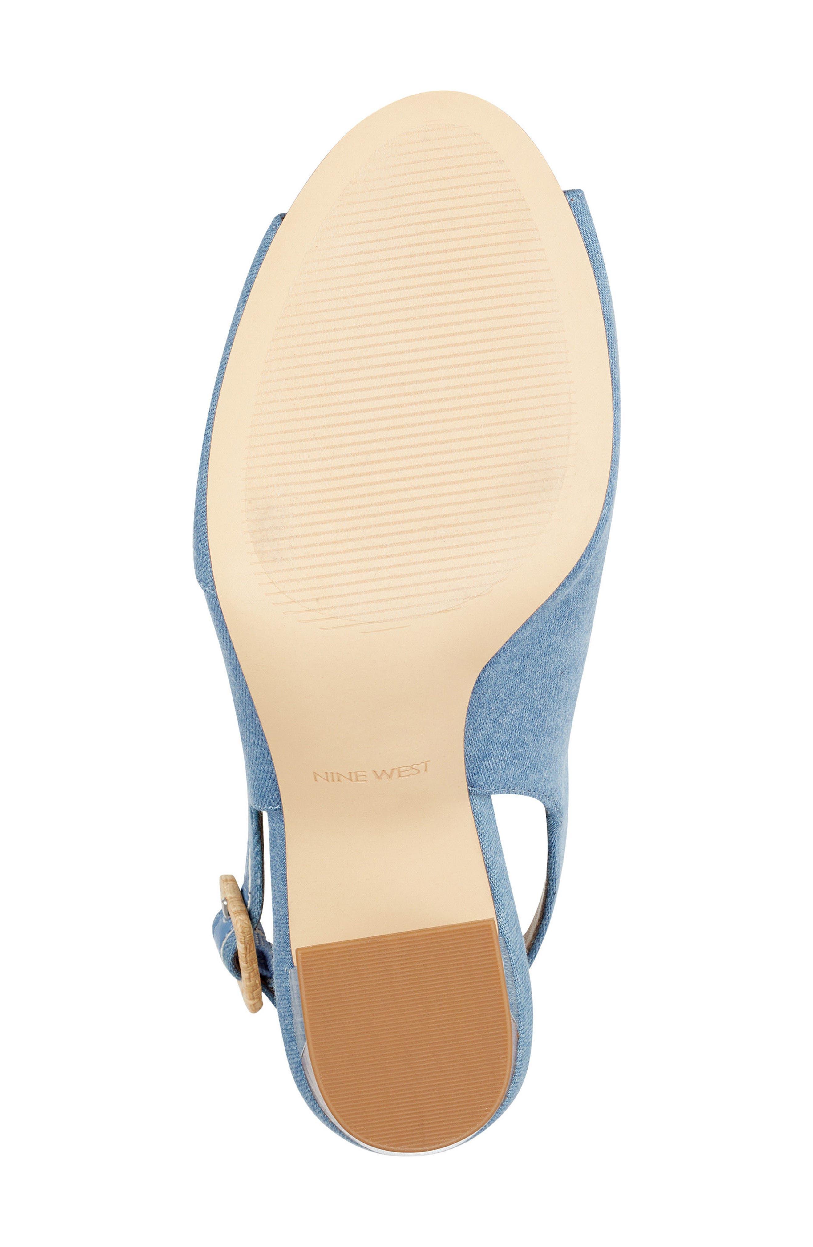 Morenzo Slingback Sandal,                             Alternate thumbnail 6, color,                             Light Blue Fabric